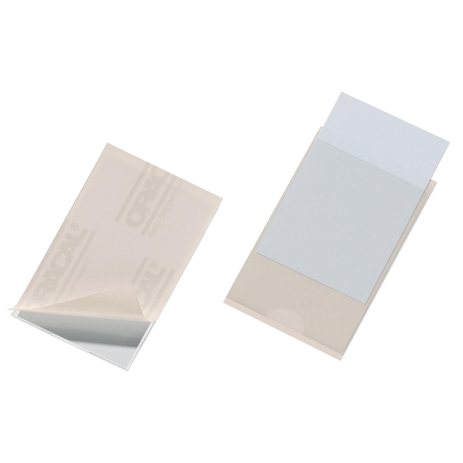 DURABLE Sachet de 10 Porte-étiquettes POCKETFIX adhésifs  57 x 90 mm