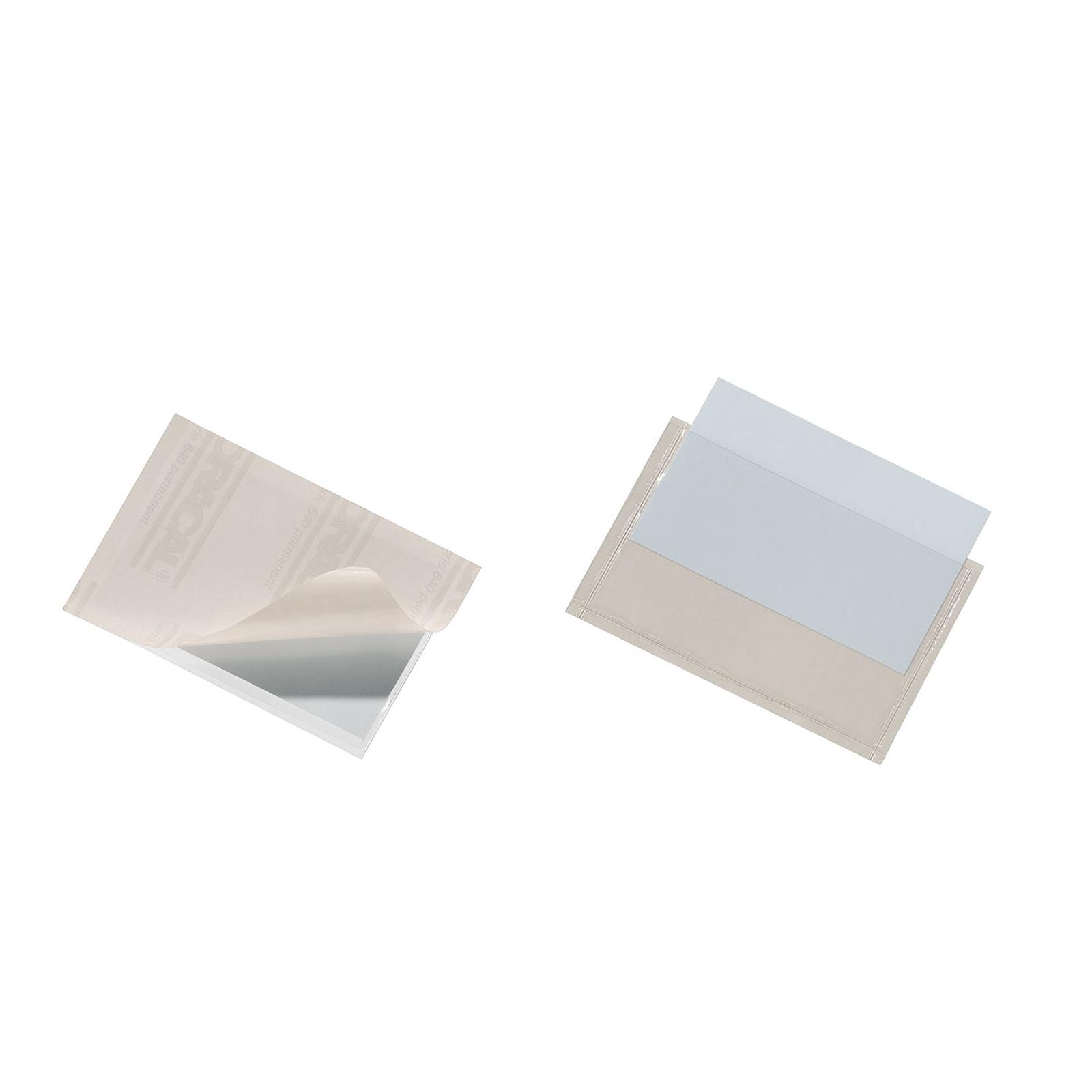 DURABLE Sachet de 10 Porte-étiquettes POCKETFIX adhésifs  90 x 54 mm
