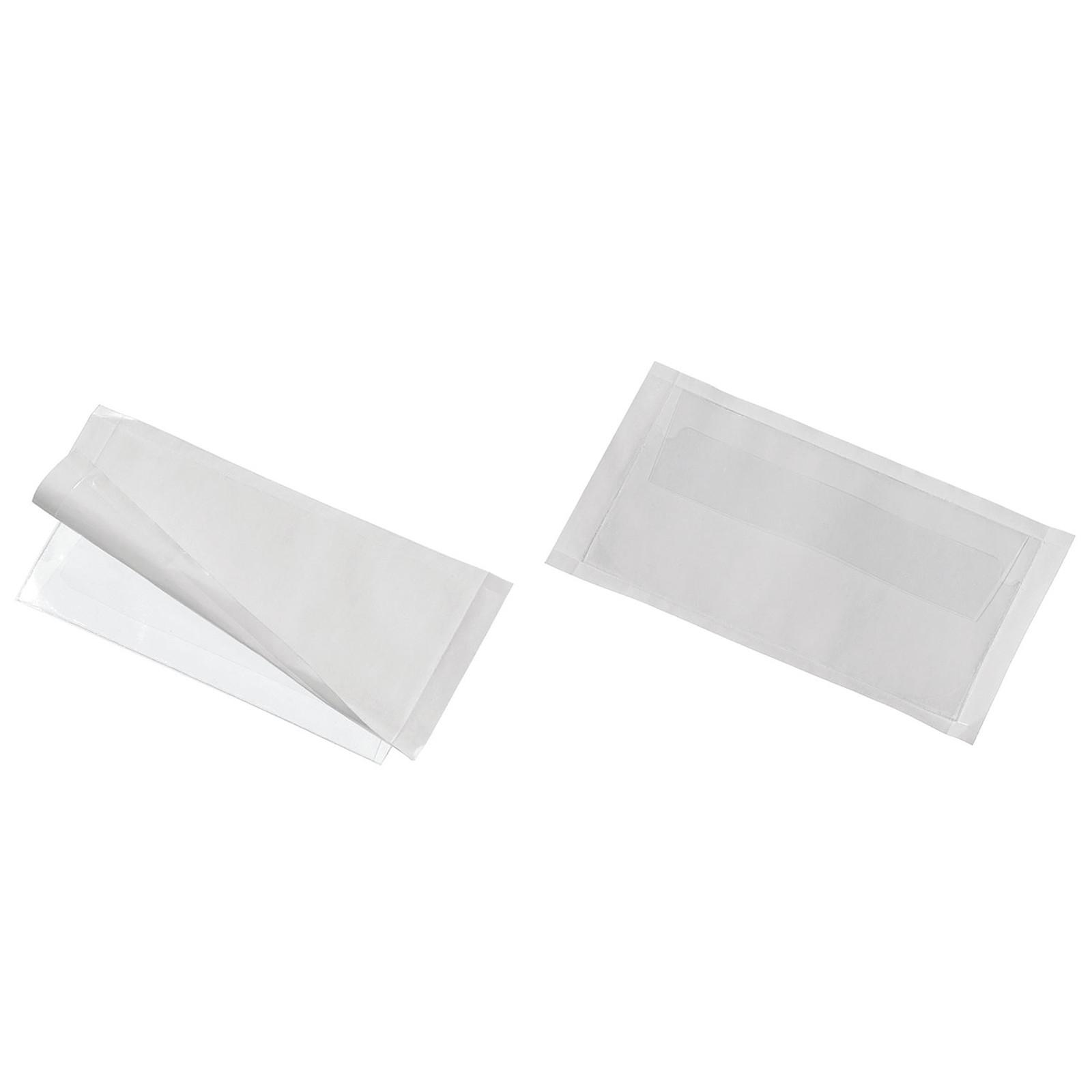 DURABLE Sachet de 10 Porte-étiquettes POCKETFIX adhésifs 57 x 90 mm avec rabat