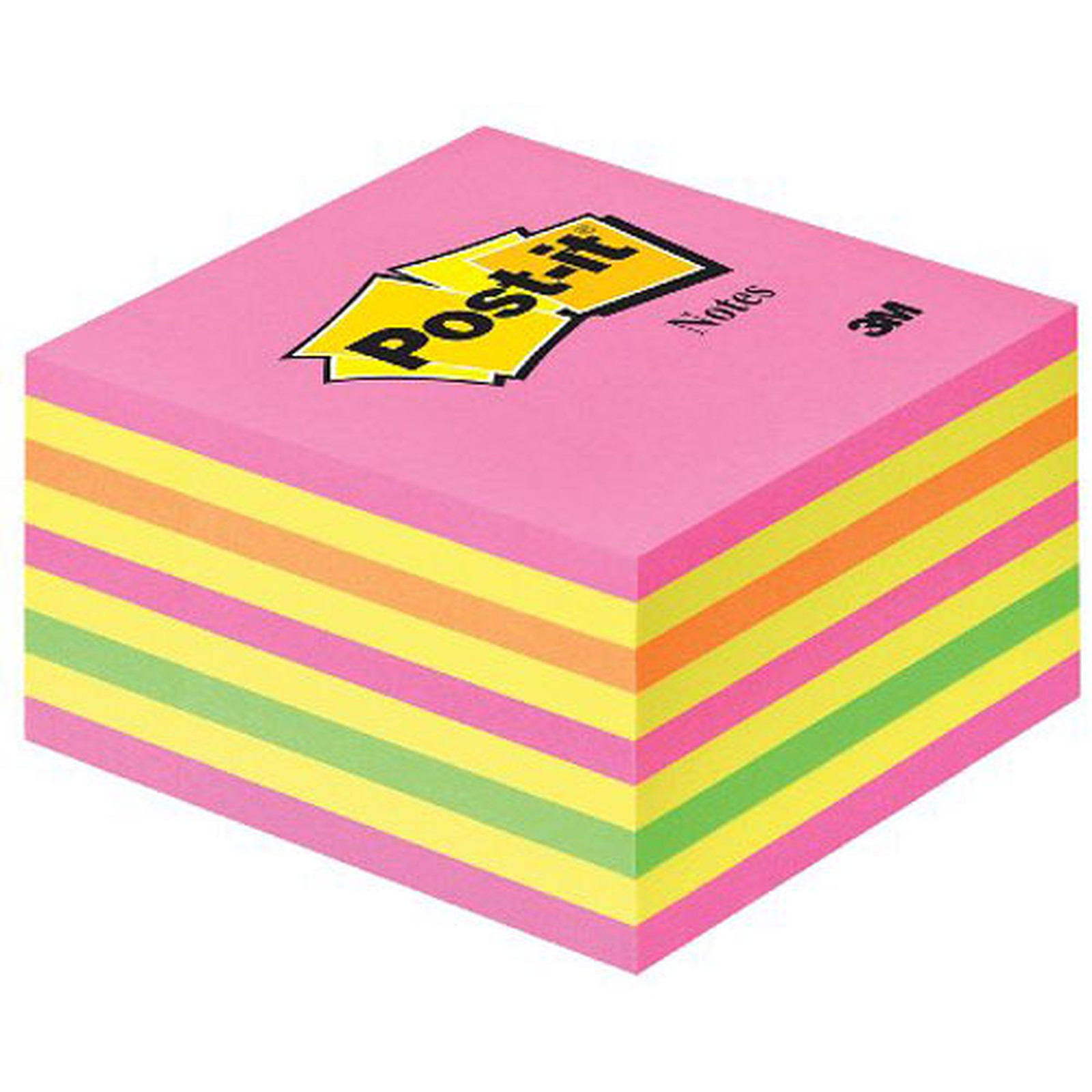 Post-it Bloc cube 450 feuillets 76 x 76 mm Néon Rose