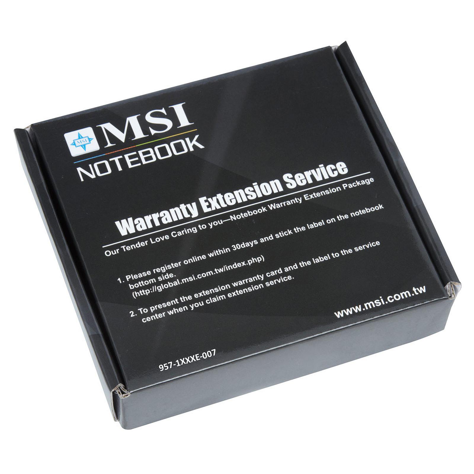 MSI 957-1XXXXE-007 - Extension de garantie 1 an supplémentaire
