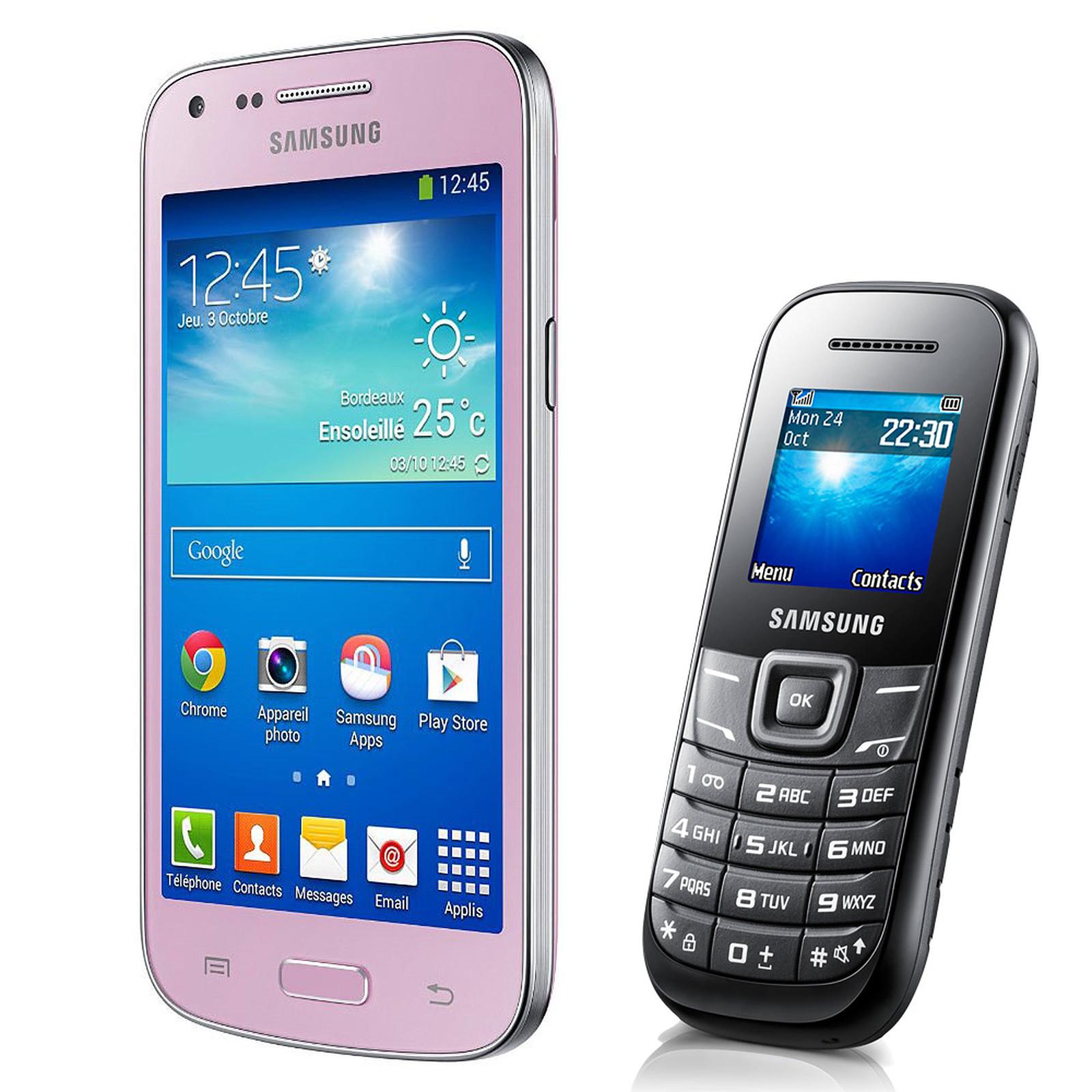 Samsung Galaxy Core Plus SM-G350 Rose + E1200 Noir