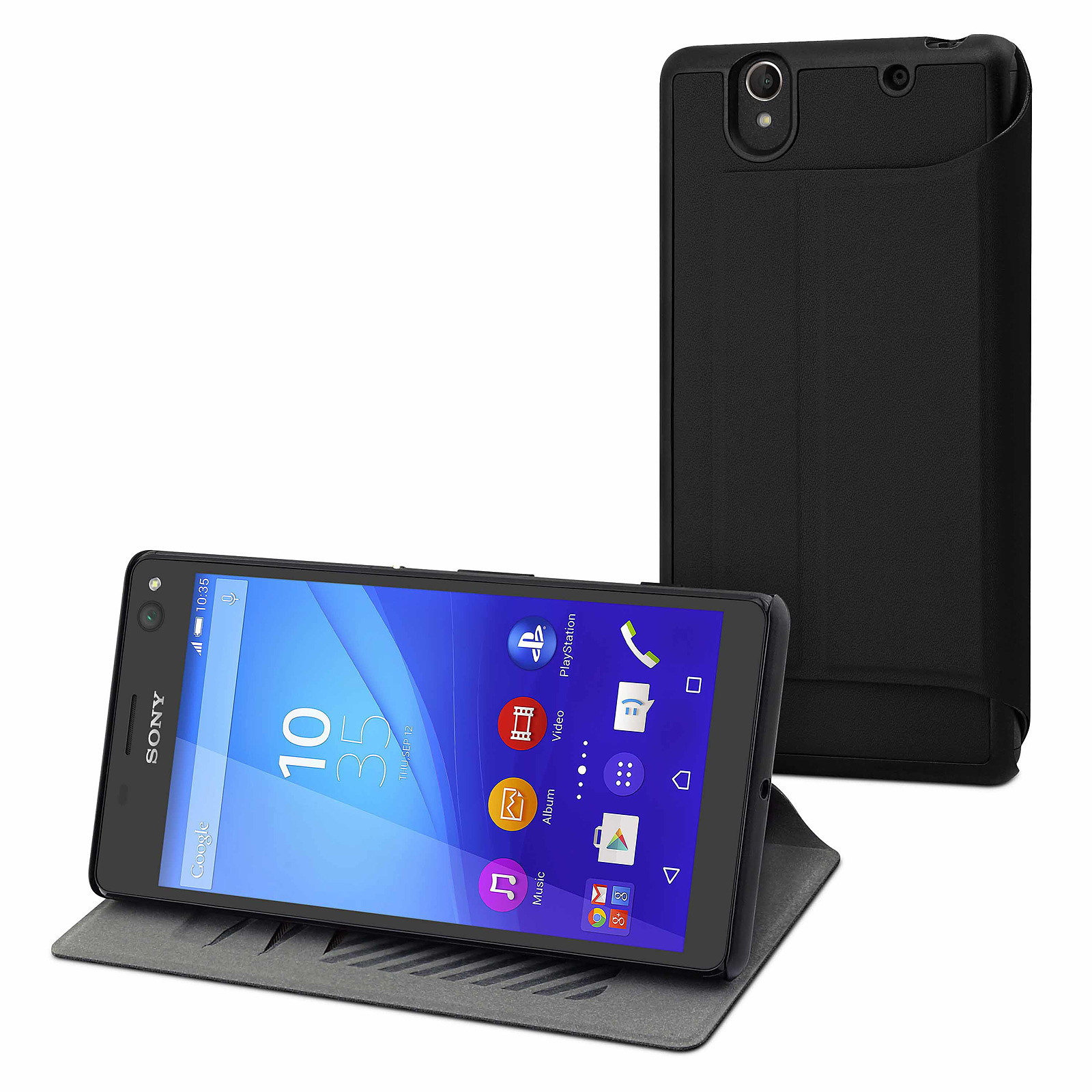 Made for Xperia Etui Ultra Slim Noir Sony Xperia C4