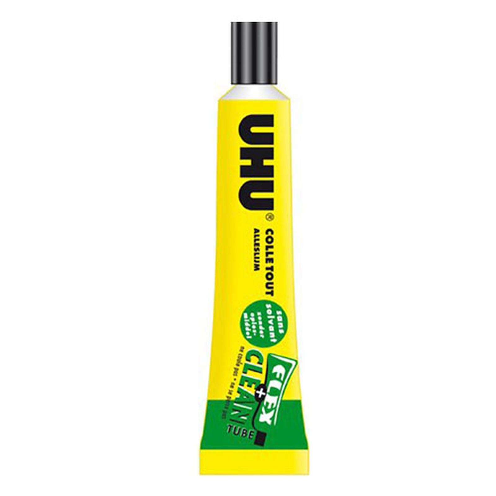 Uhu flex+clean Colle forte universelle transparente