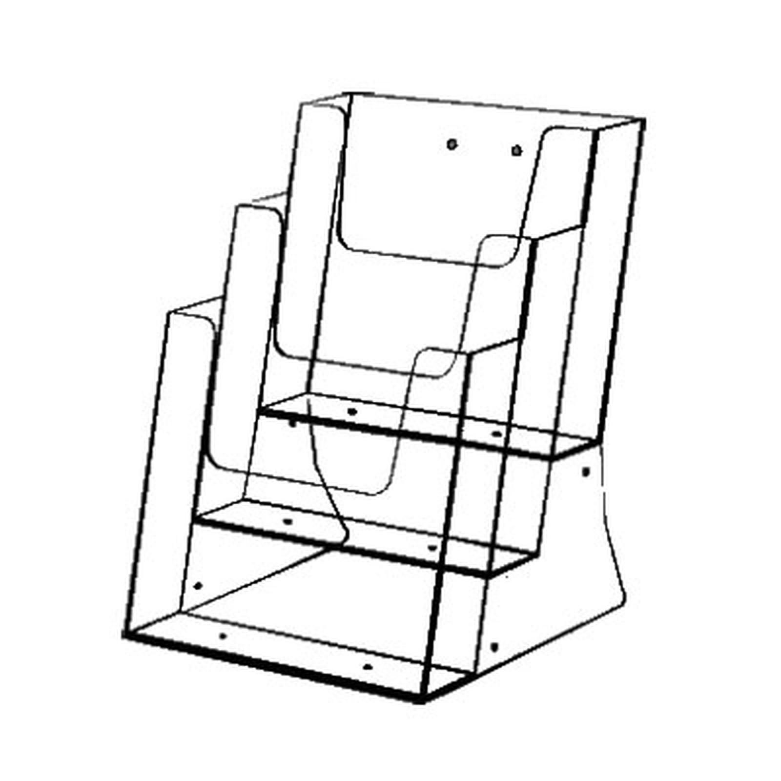 Torenco Présentoir de comptoir Eco multi-cases A5