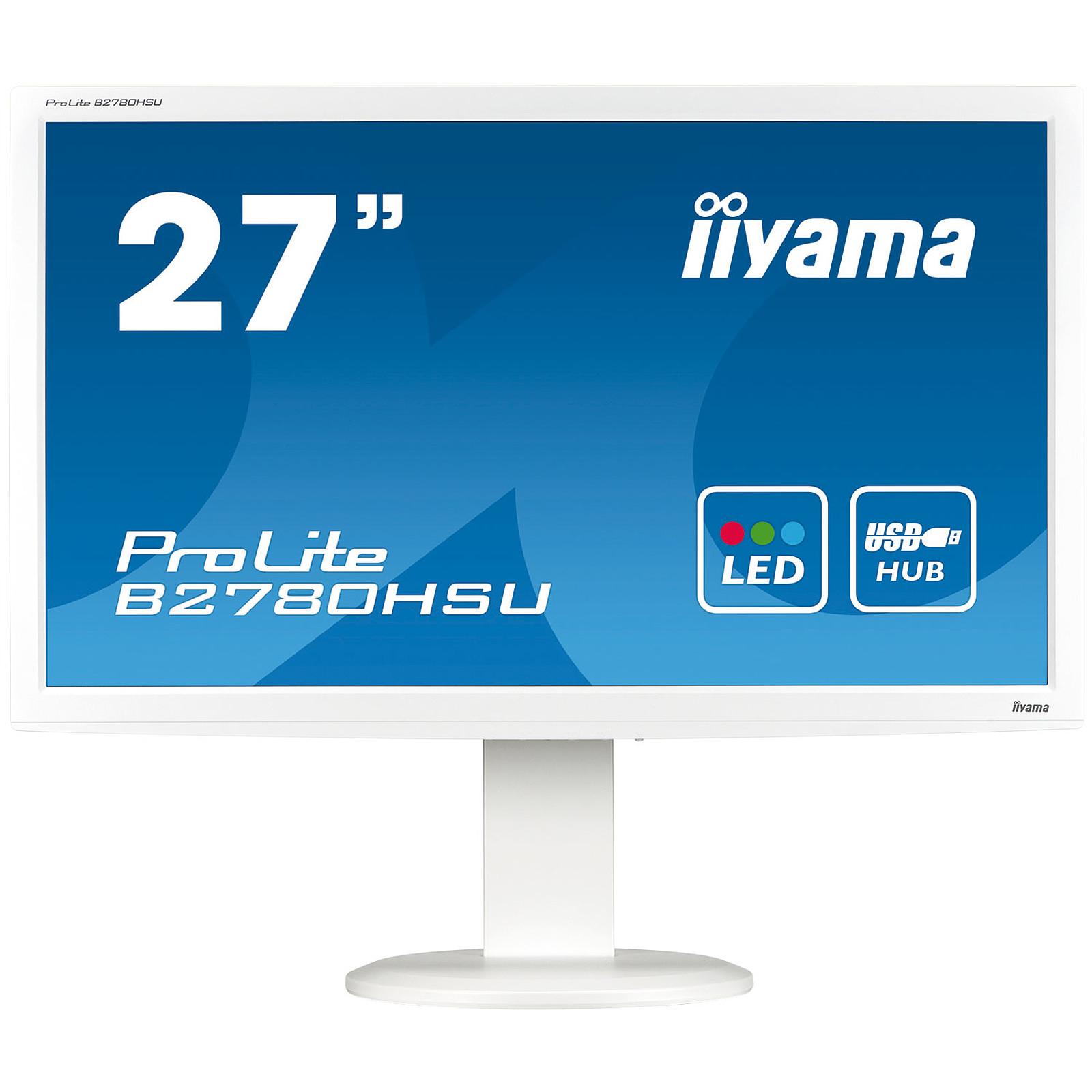 "iiyama 27"" LED - ProLite B2780HSU Blanc"