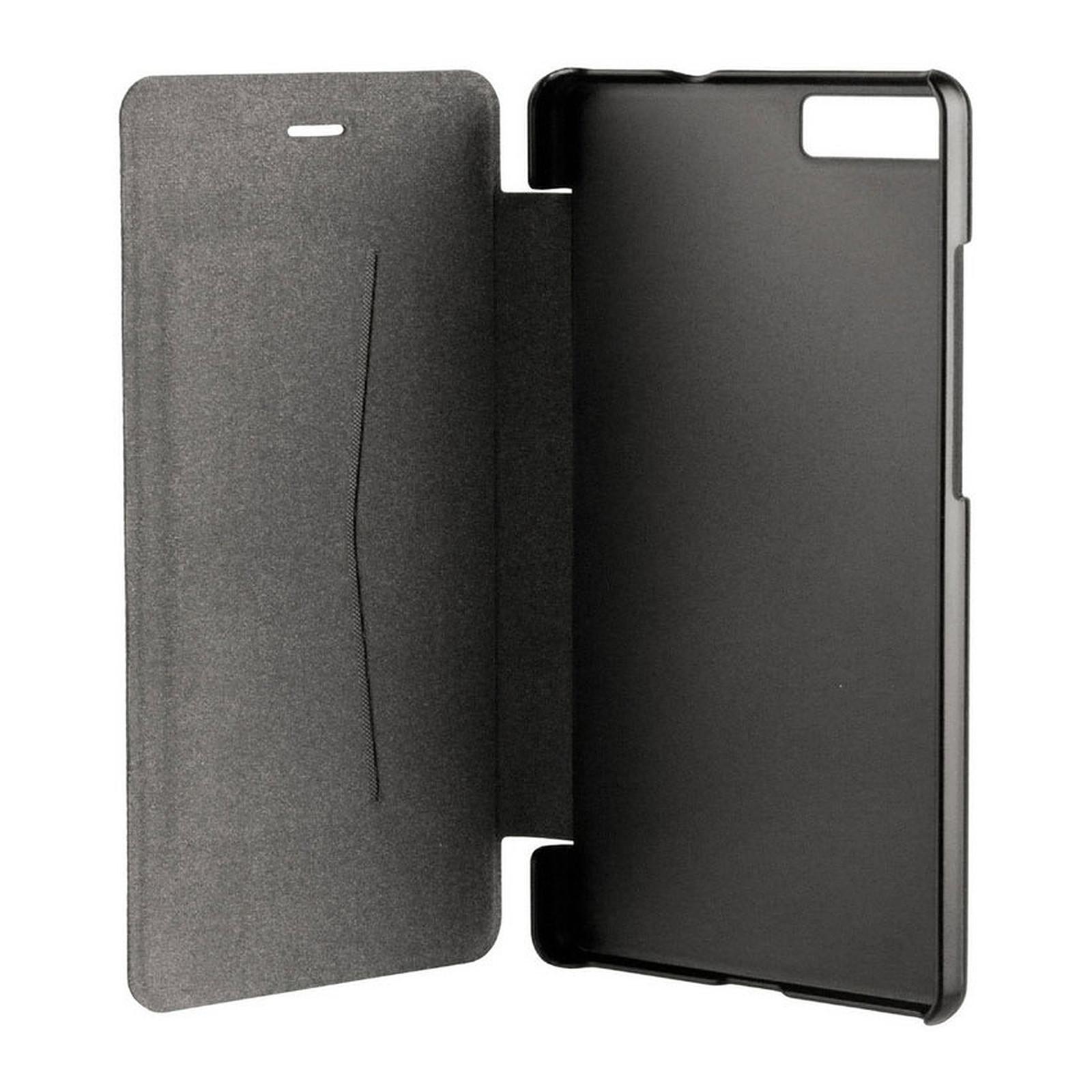 xqisit Etui Folio Rana Noir Huawei P8 Lite