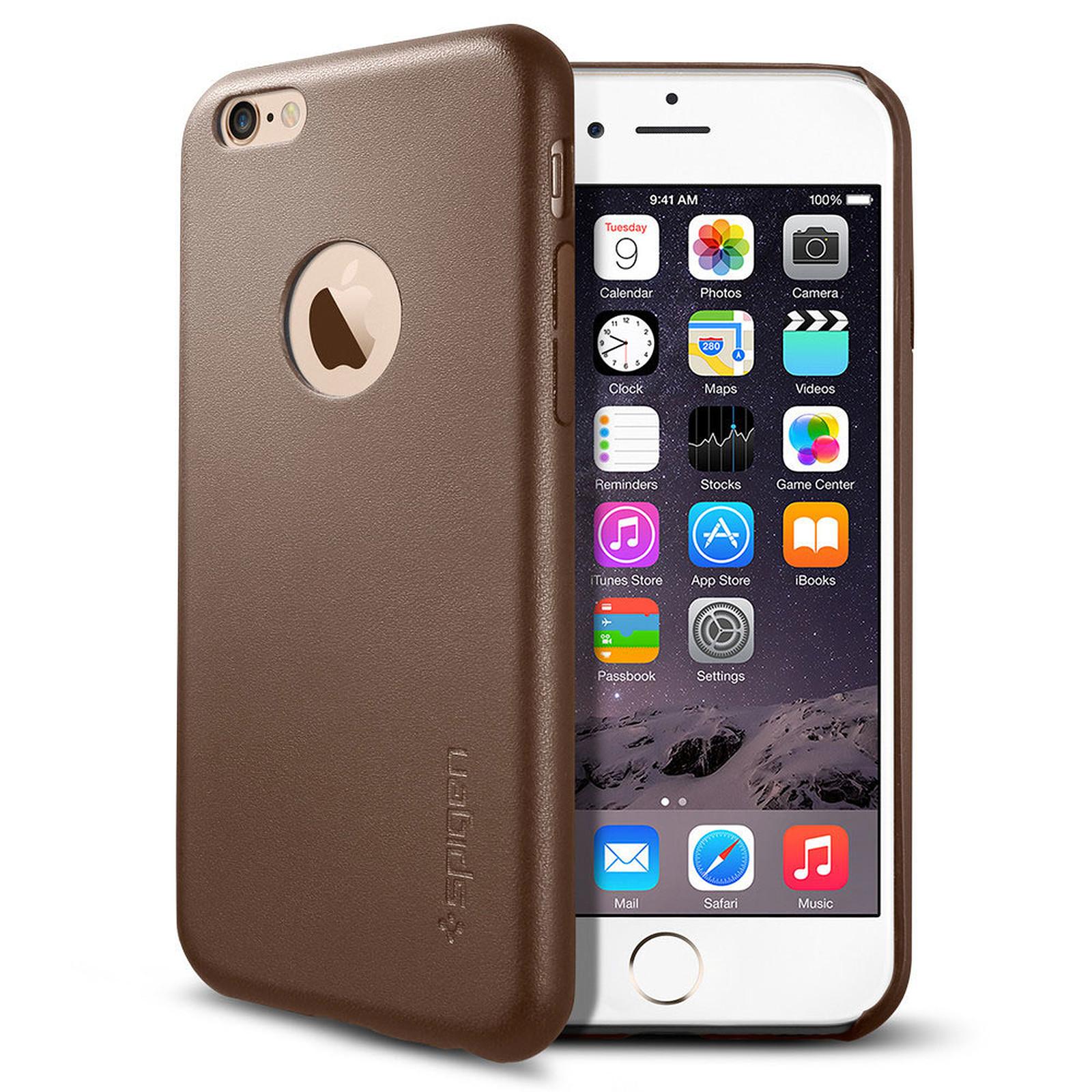 Spigen Case Leather Fit Marron Apple iPhone 6/6s