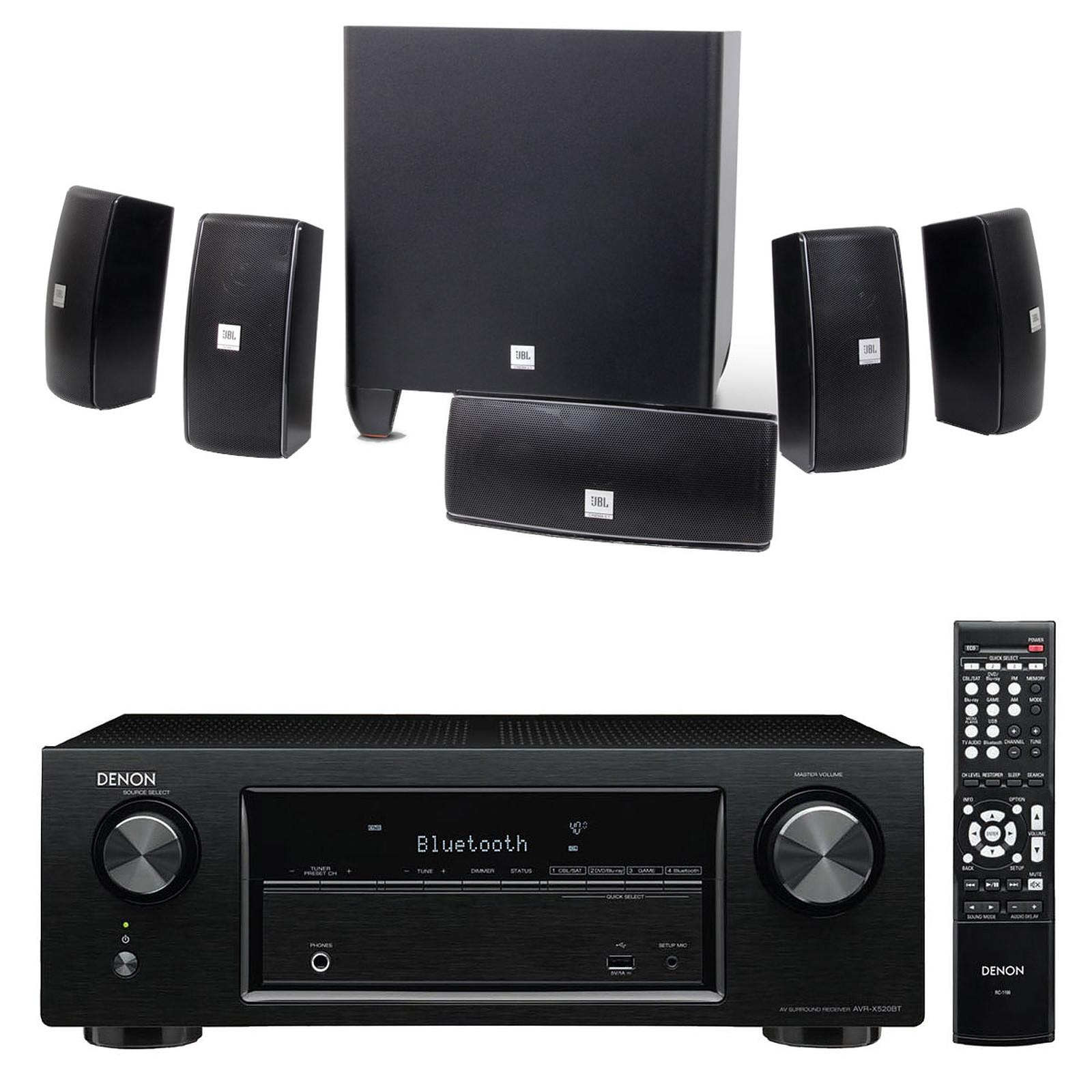 Denon AVR-X520BT + JBL Cinema 610