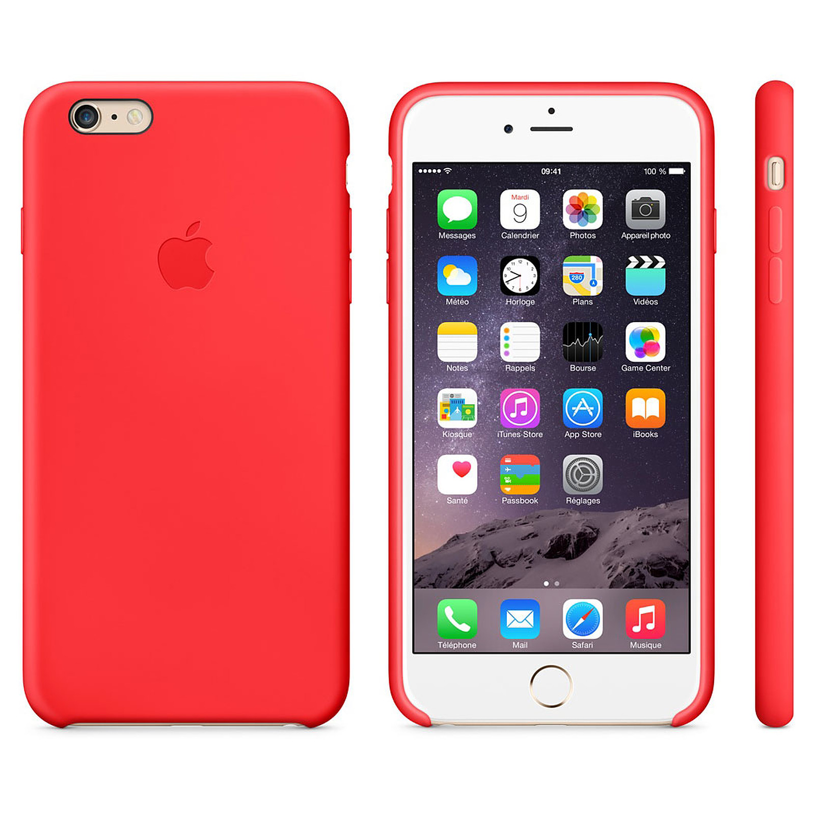 Apple Coque en silicone Rouge Apple iPhone 6 Plus