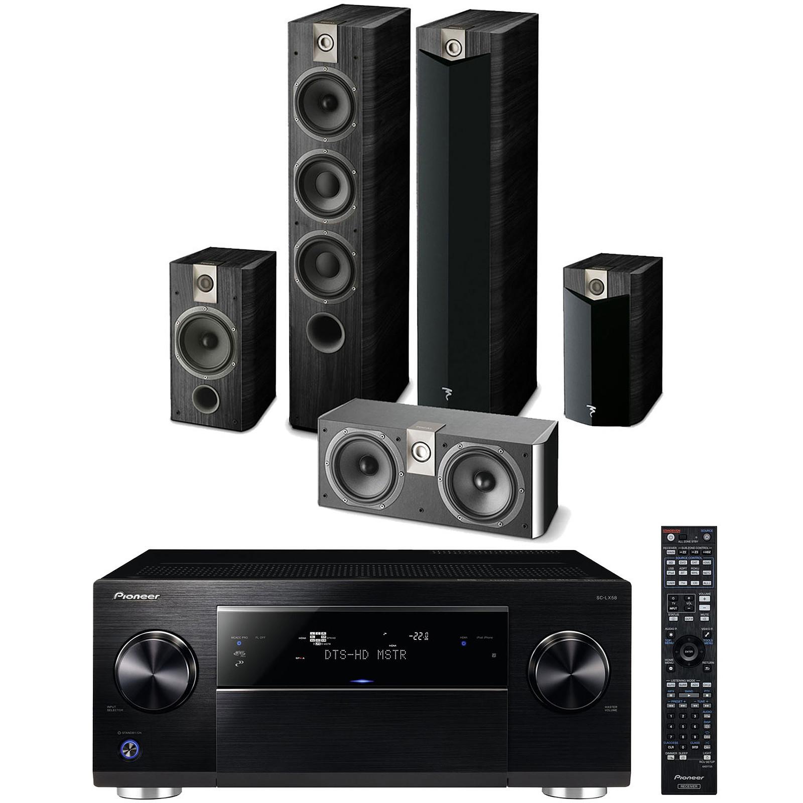 Pioneer SC-LX58K Noir + Focal Chorus 727 V2 + 706 V2 + CC 700