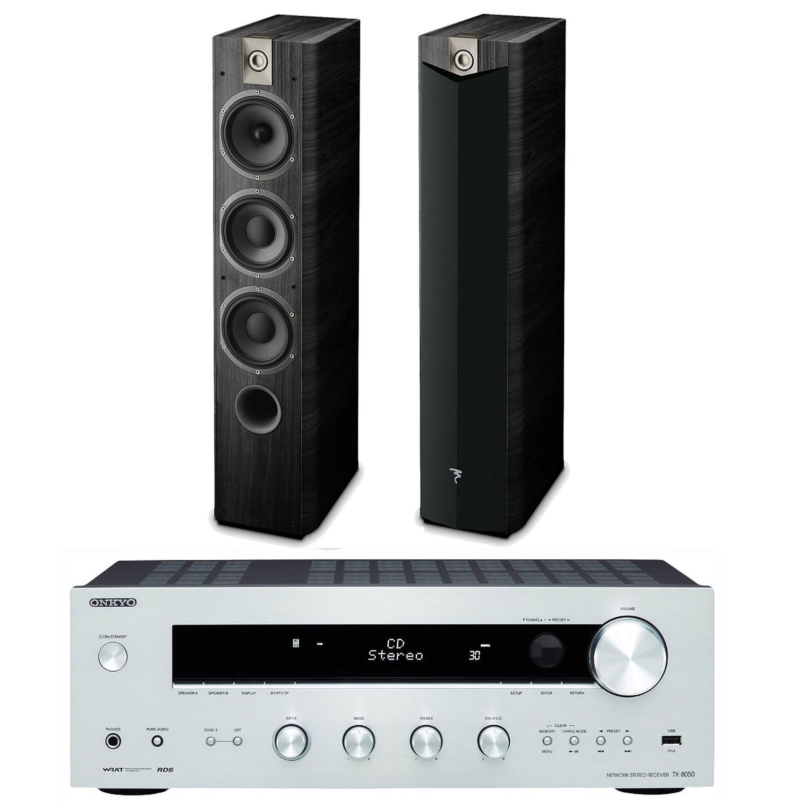 Onkyo TX-8050 Argent + Focal Chorus 727 V2 Black Ash