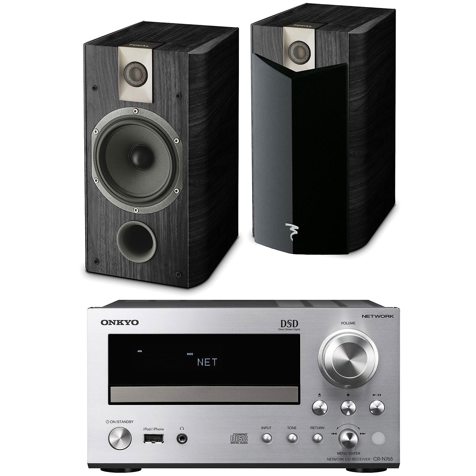 Onkyo CR-N765 Argent + Focal Chorus 706 V2 Black Ash