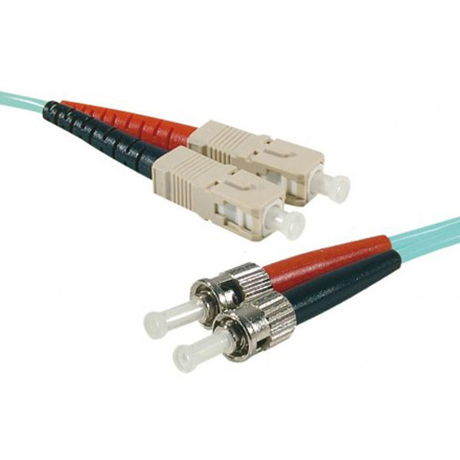 Câble fibre optique multimode OM4 50/125 SC-UPC/ST-UPC (2 mètres)