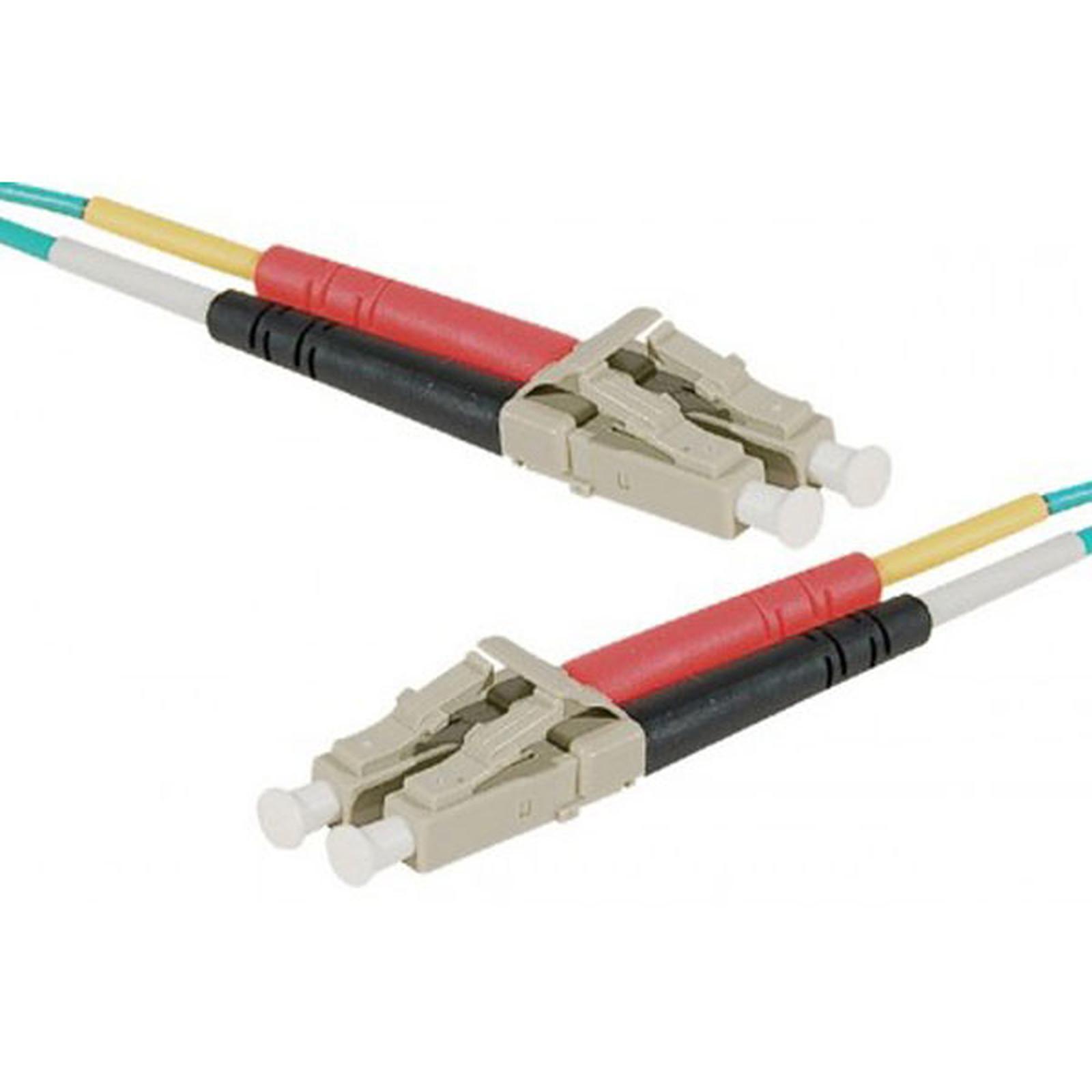 Câble fibre optique multimode OM4 50/125 LC/LC (8 mètres)
