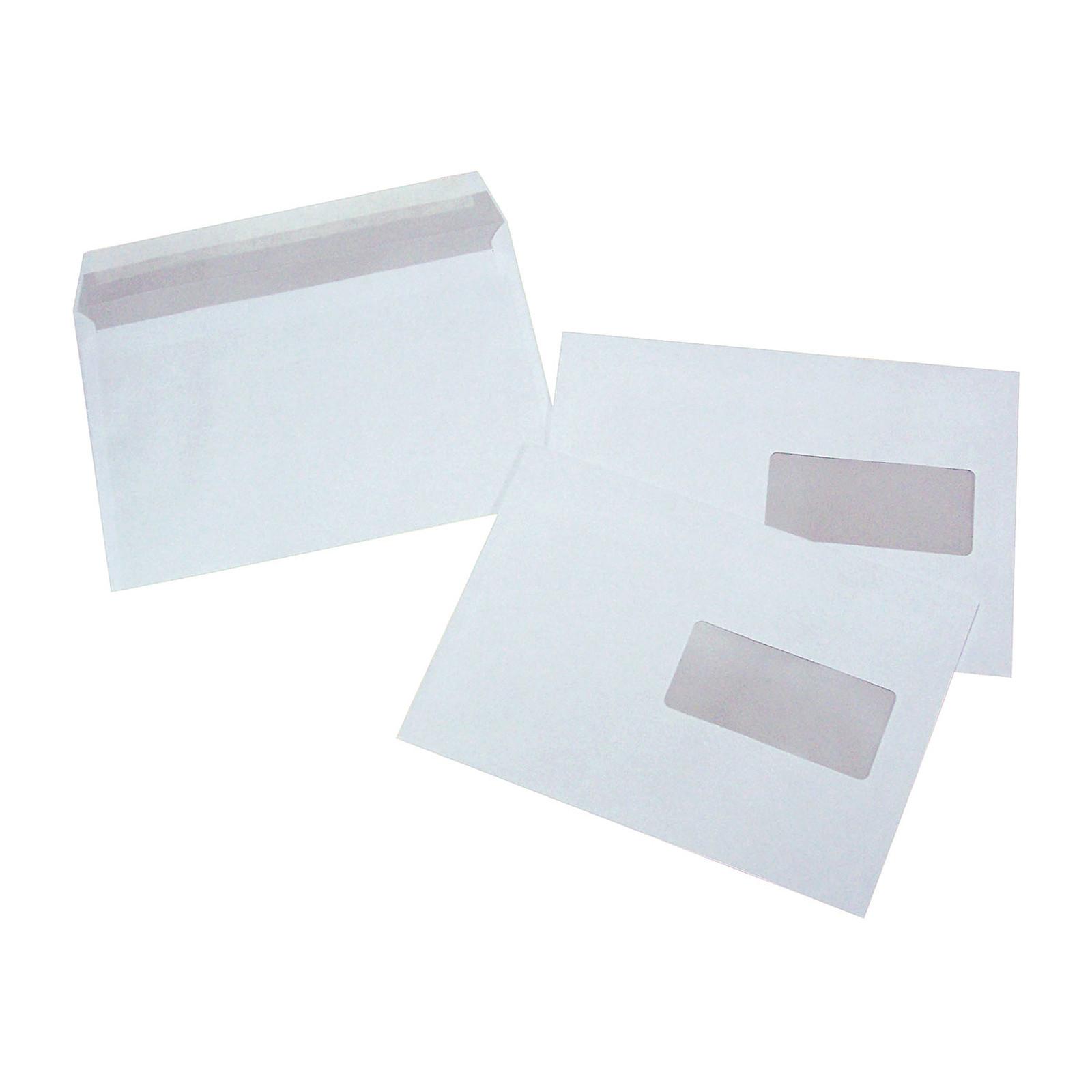 500 enveloppes C5 auto-adhésives 80g fenêtre 45x100 mm
