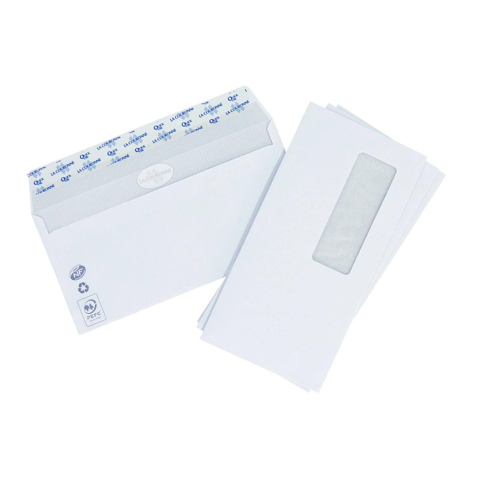 La Couronne Boite de 500 enveloppes DL avec fenêtre