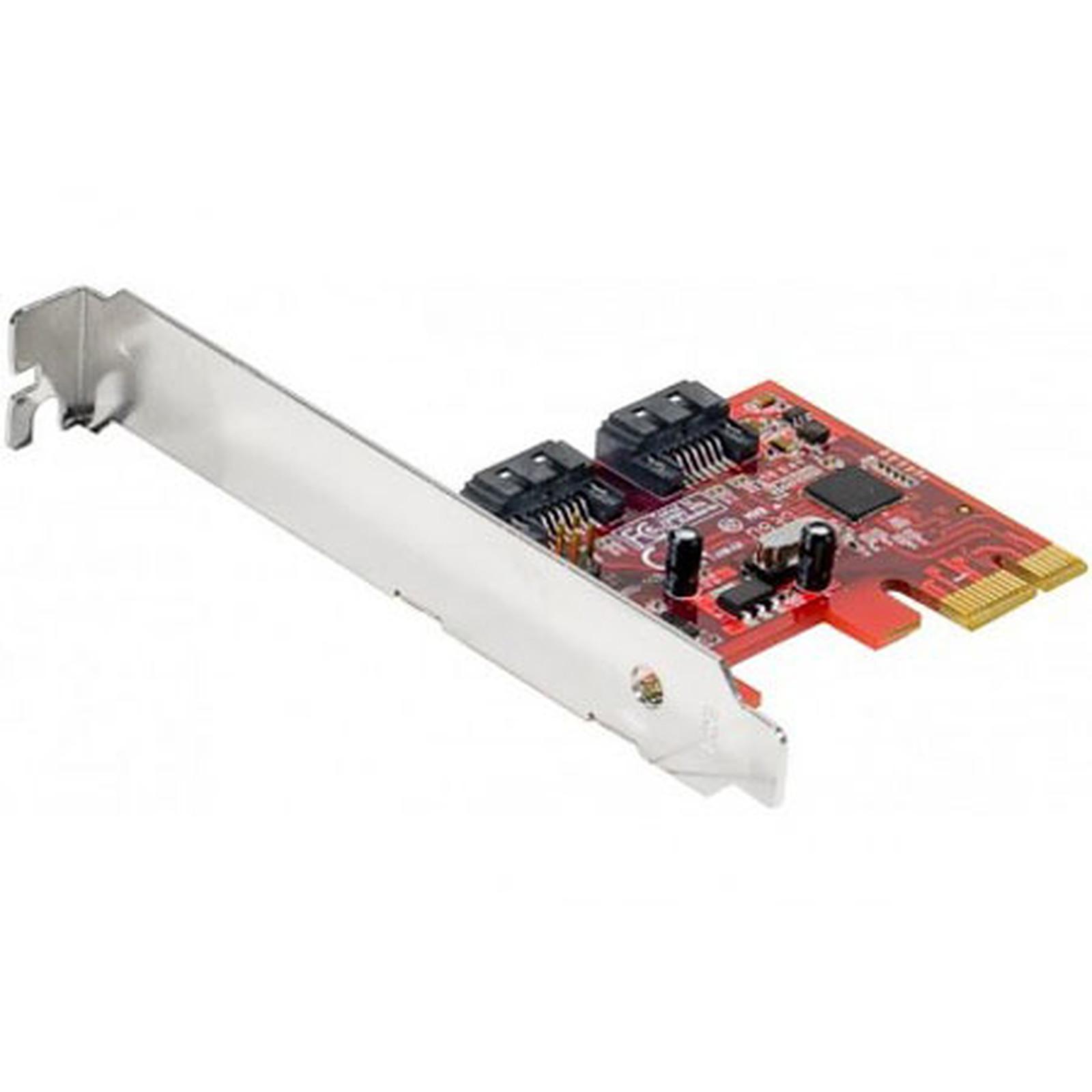 Carte contrôleur PCI-Express 2 ports SATA III Internes 6Gbps
