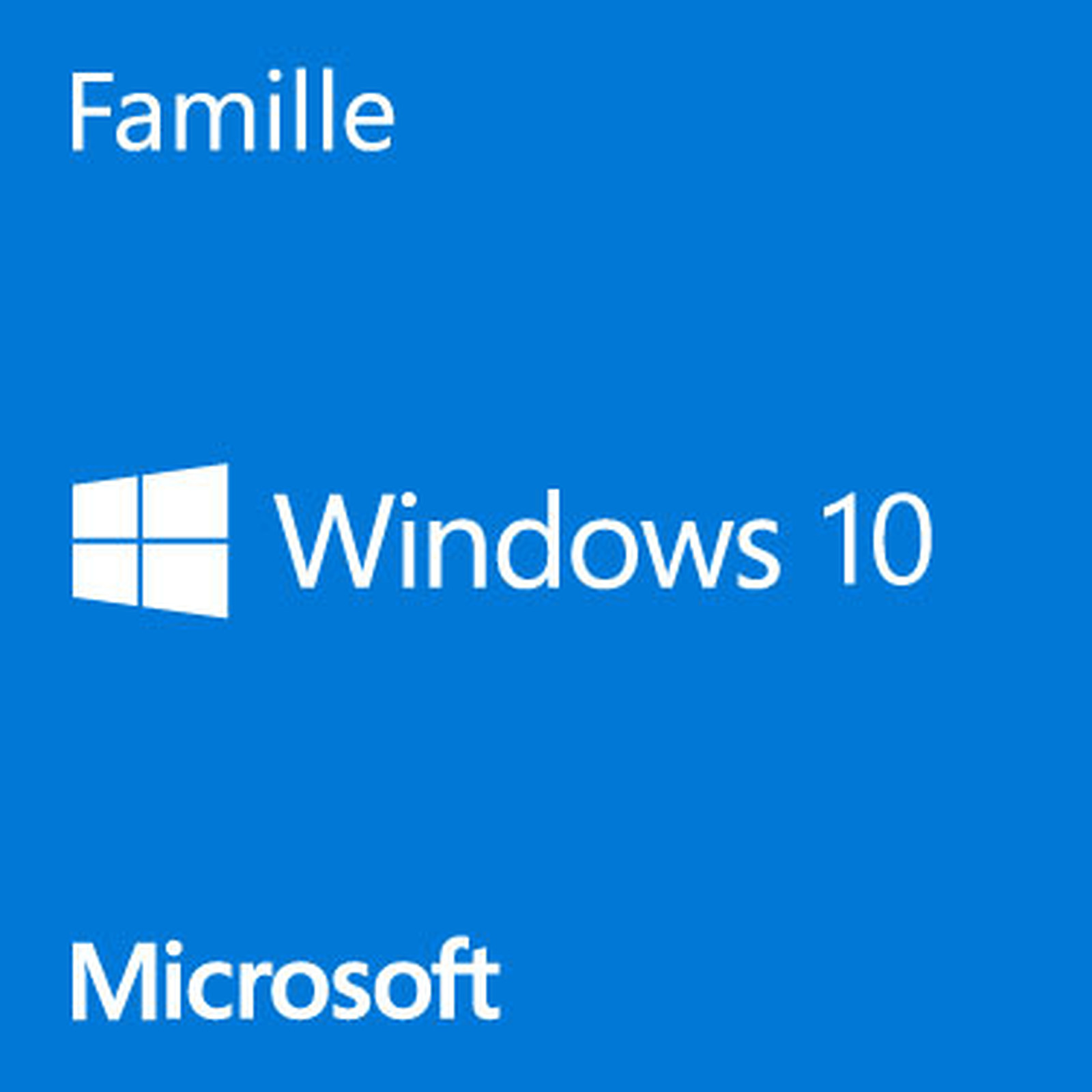 Microsoft Windows 10 Famille 64 bits - OEM (DVD)