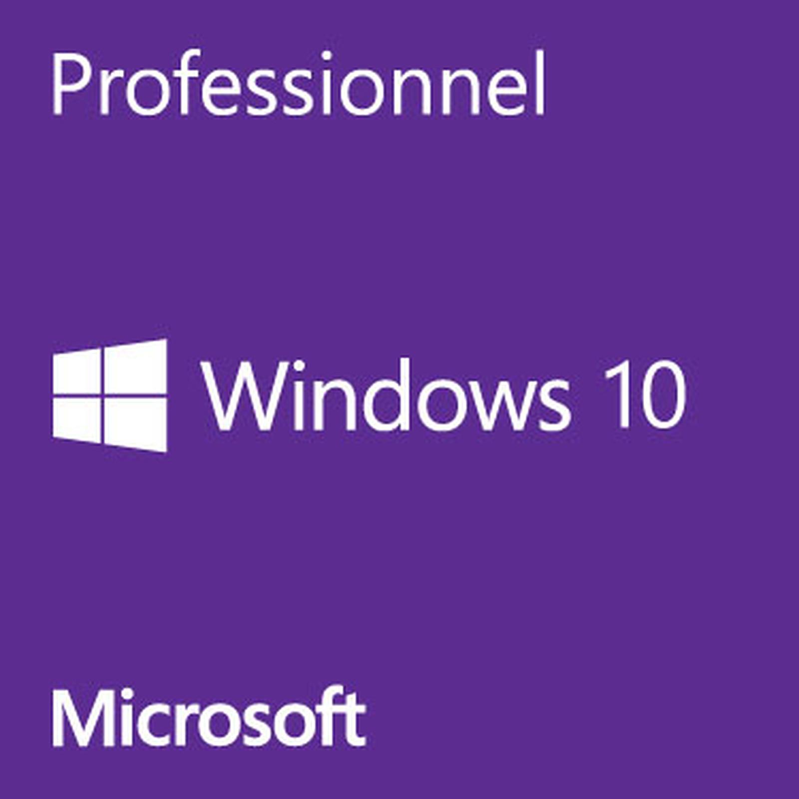 Microsoft Windows 10 Professionnel 32 bits OEM Get Genuine Kit