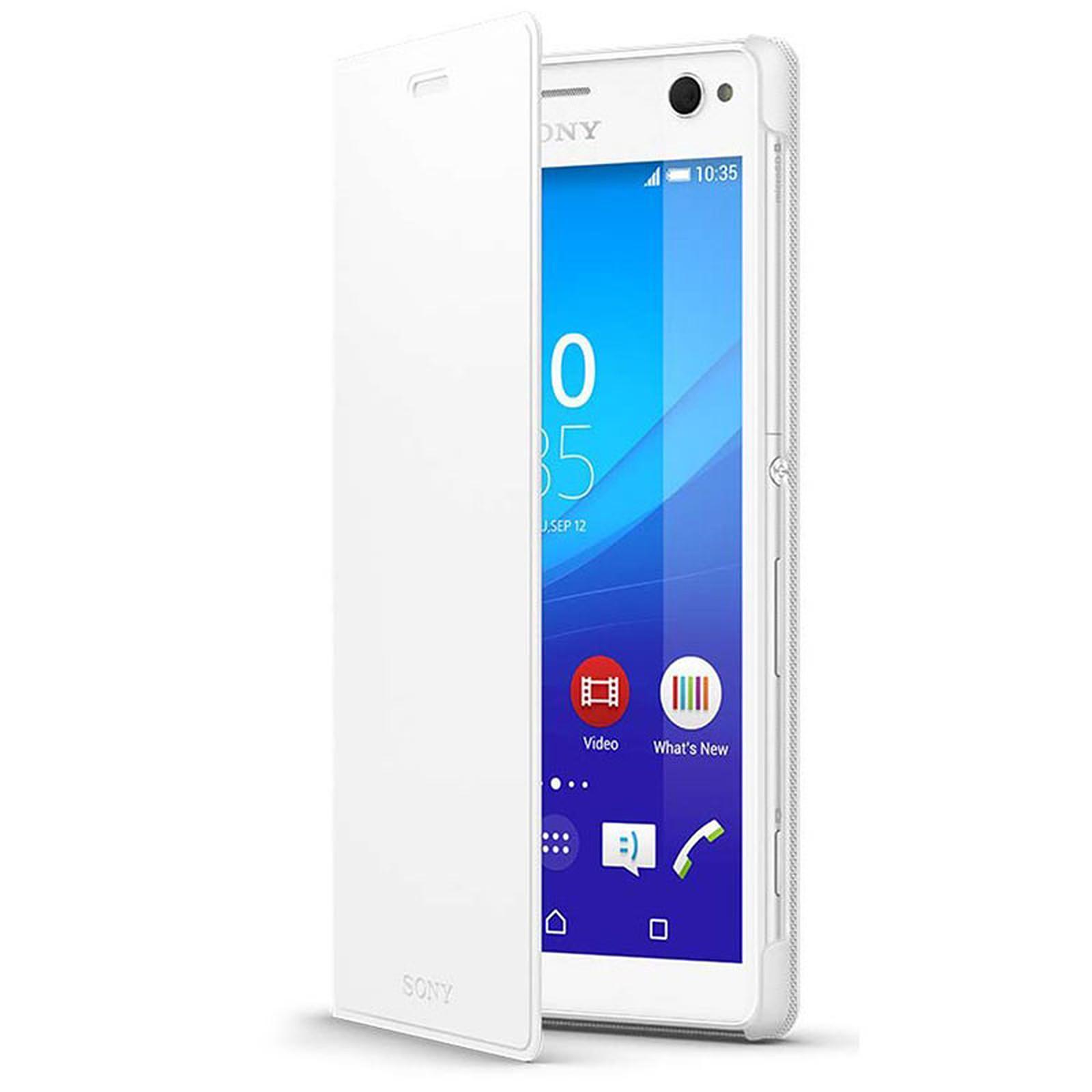 Sony Etui Folio Blanc Sony Xperia C4
