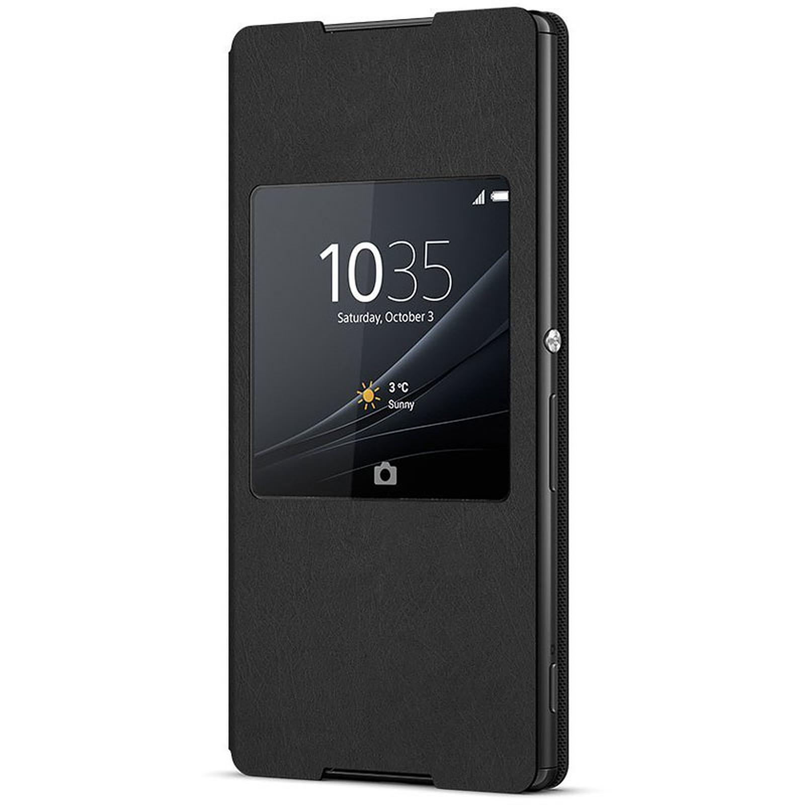 Sony Style Cover Window Noir Sony Xperia Z3+