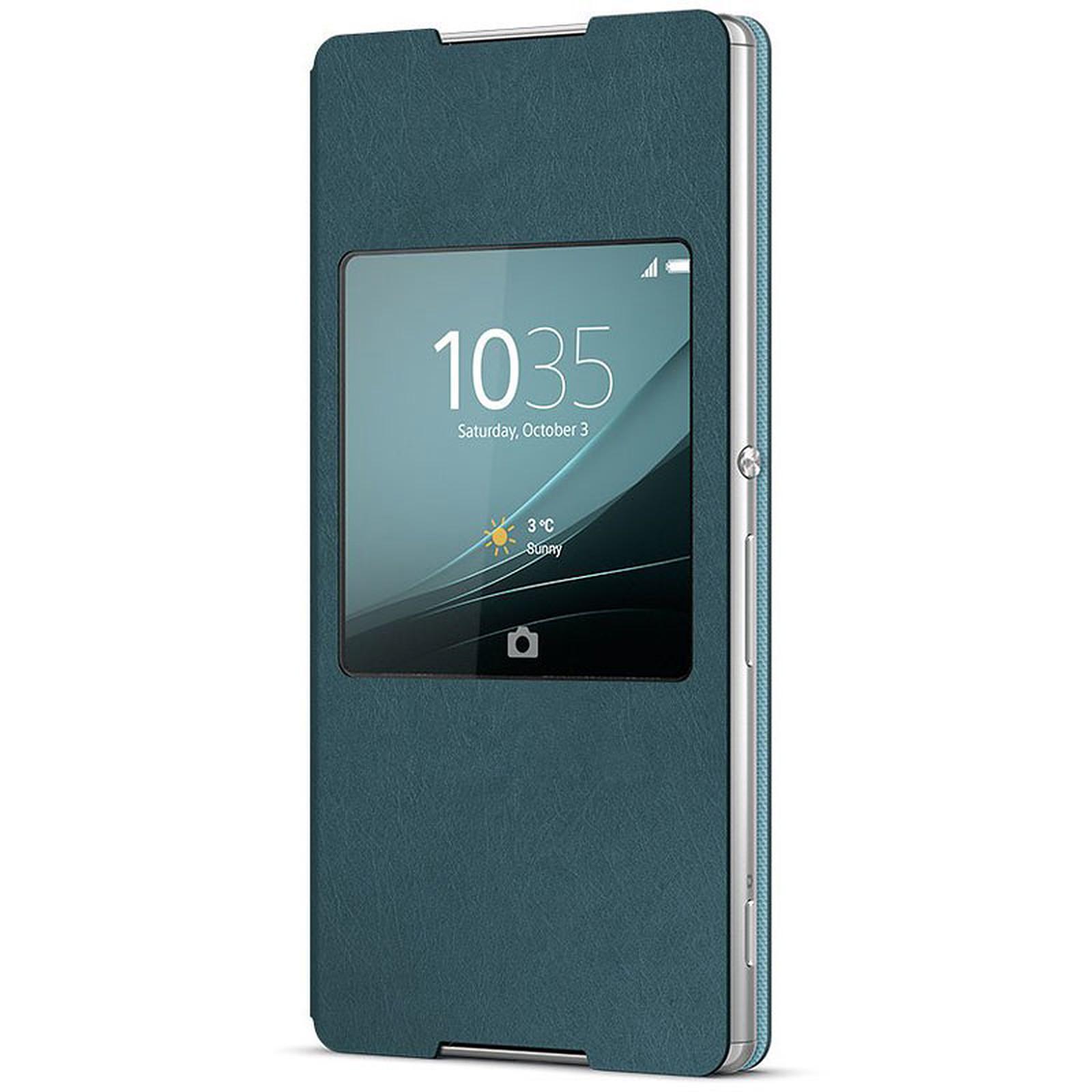 Sony Style Cover Window Bleu Givre Sony Xperia Z3+
