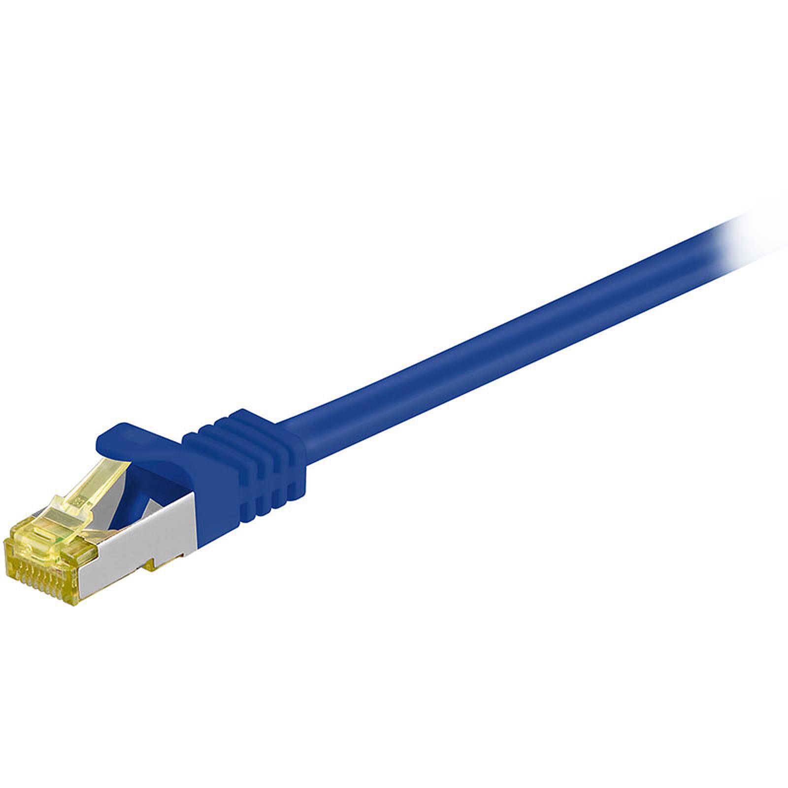Cordon RJ45 catégorie 7 S/FTP 10 m (Bleu)