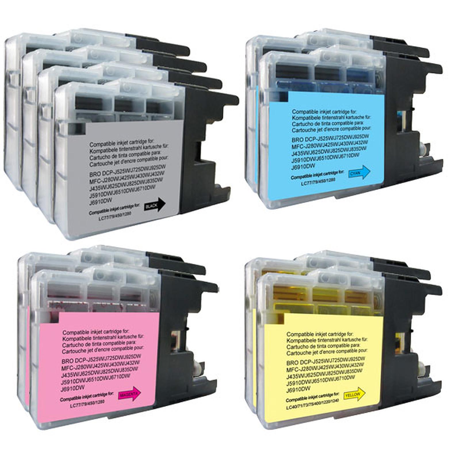 Megapack compatible Brother LC1280XL/1240/1220 (Noir, cyan, magenta et jaune)