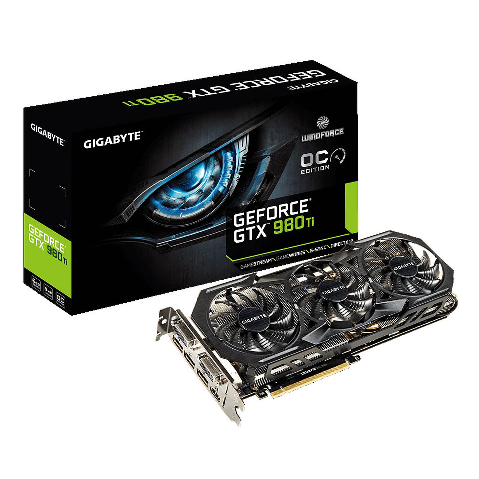 Gigabyte GV-N98TWF3OC-6GD - GeForce GTX 980 Ti 6GB · Occasion