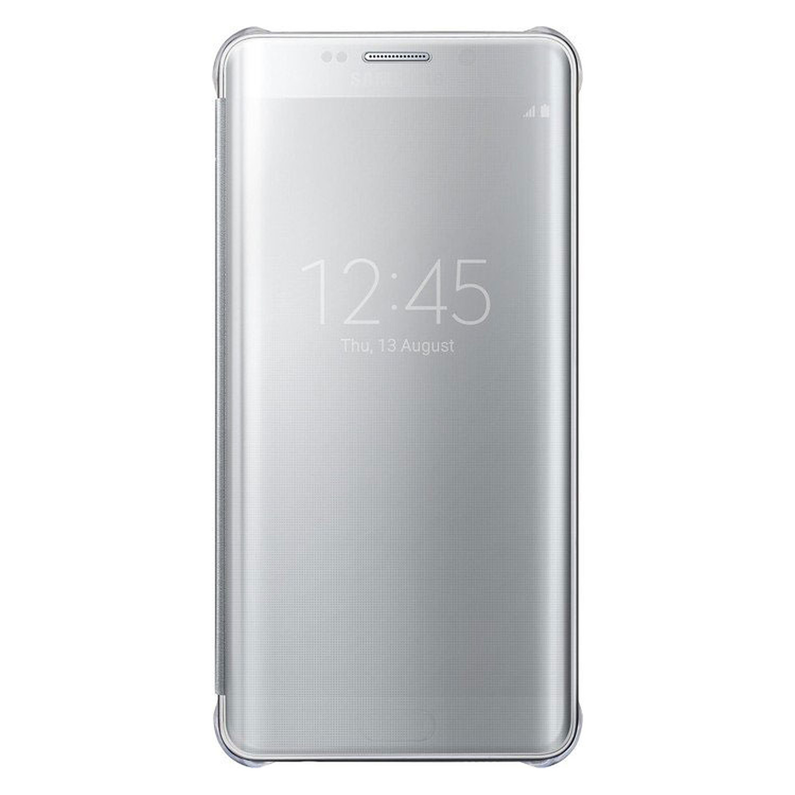 Samsung Clear View Cover Argent Galaxy S6 Edge+