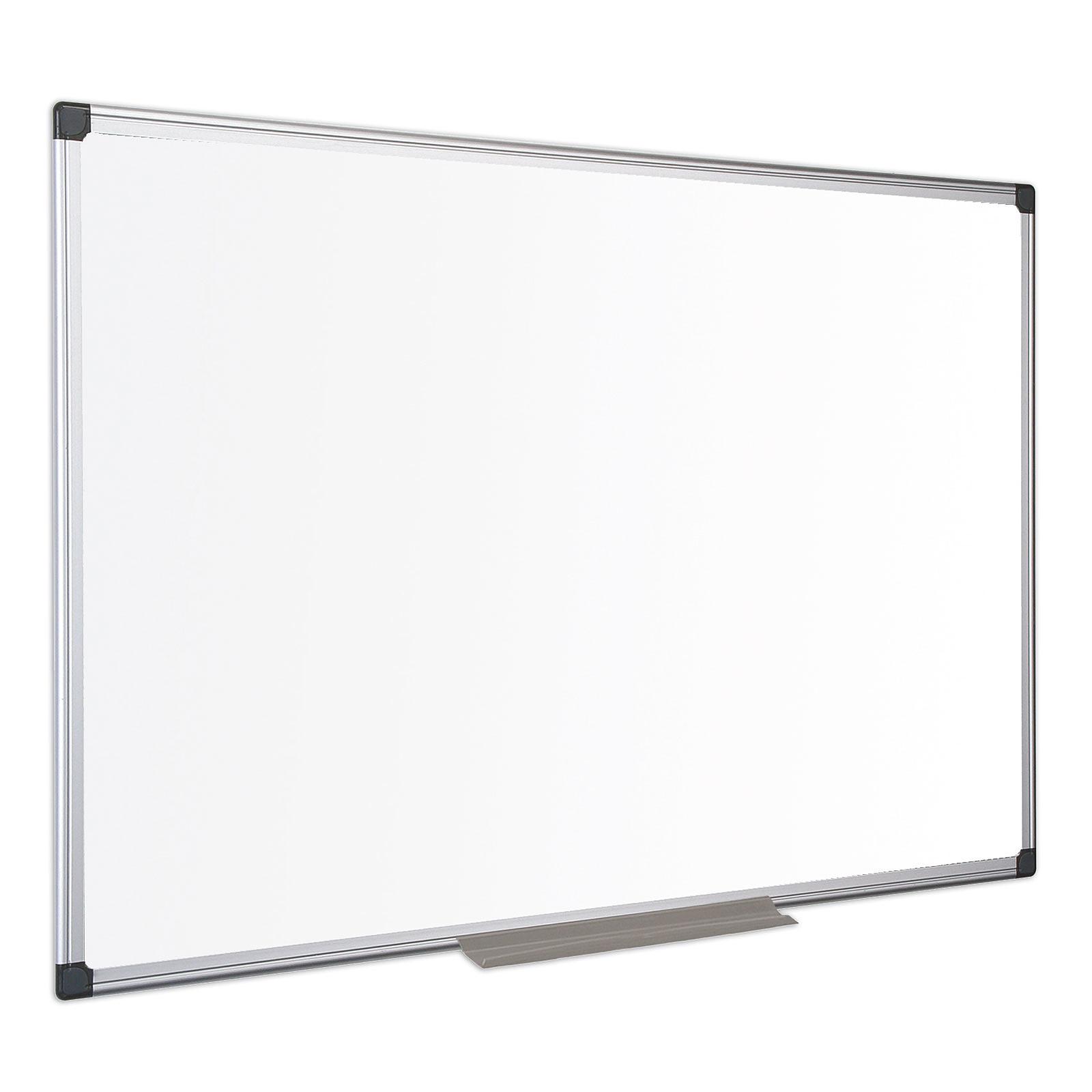 bi-office tableau blanc laqué 90 x 60 cm - tableau blanc et