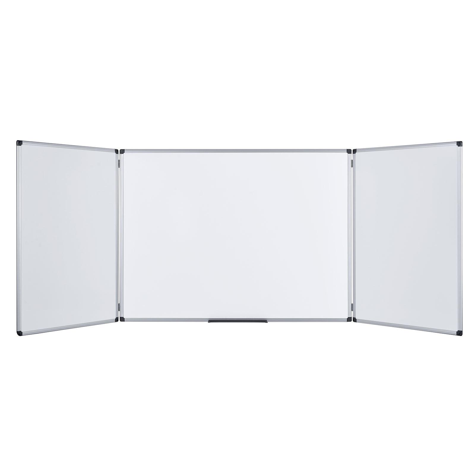 Bi-Office Tableau blanc triptyque émaillé 90 x 120/240 cm