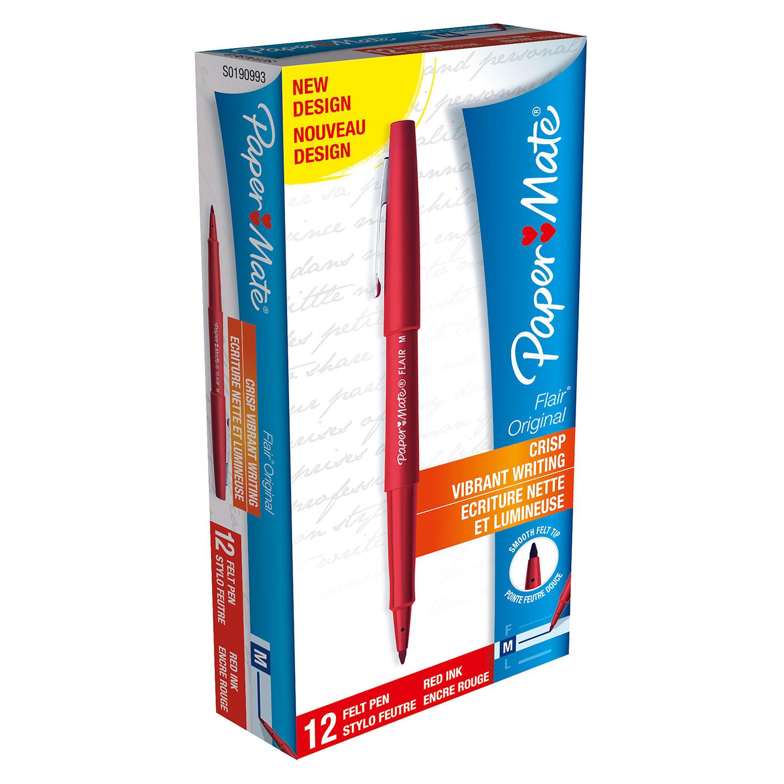 Paper Mate Flair Original Rouge x 12