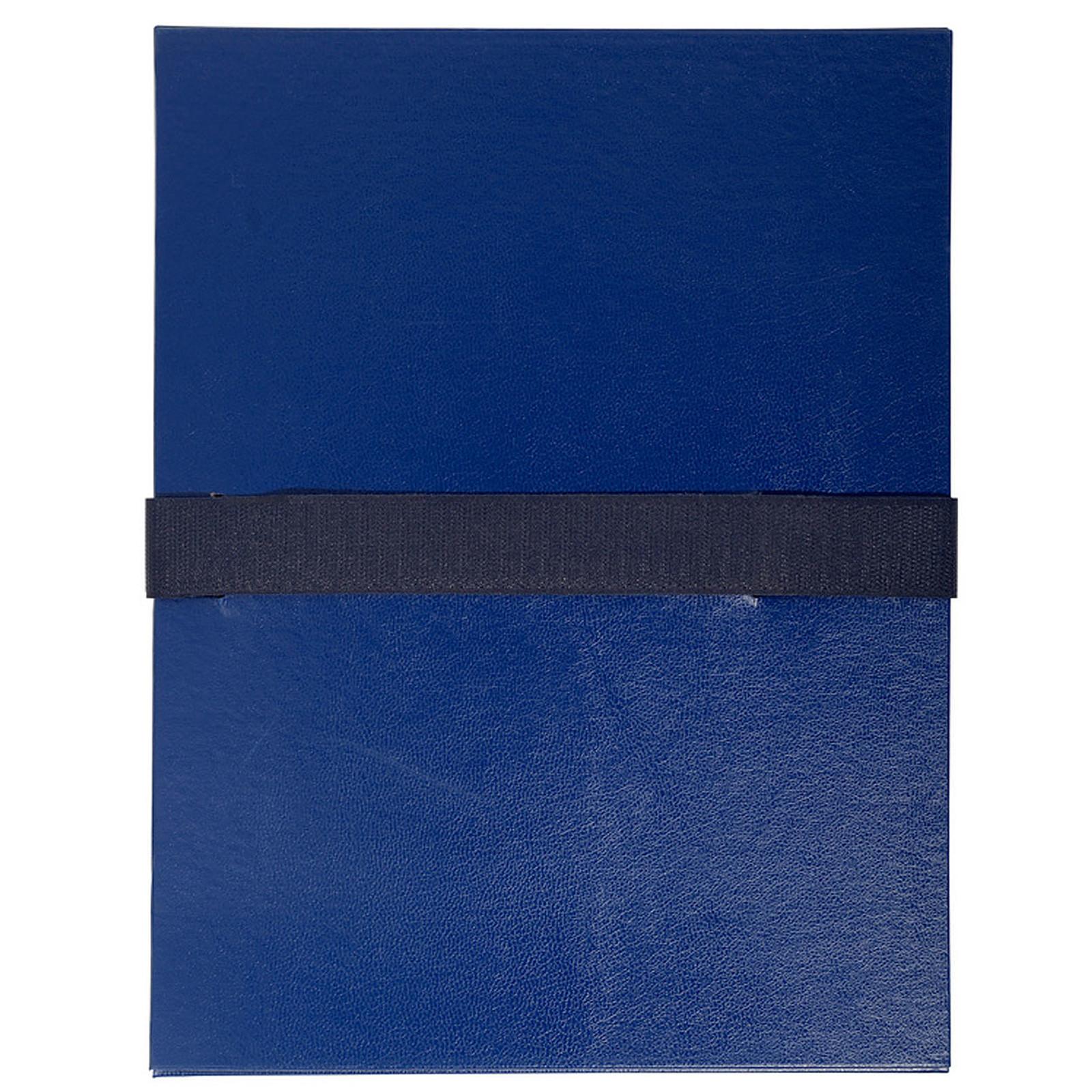 Exacompta Chemise à sangle velcro avec rabat Bleu