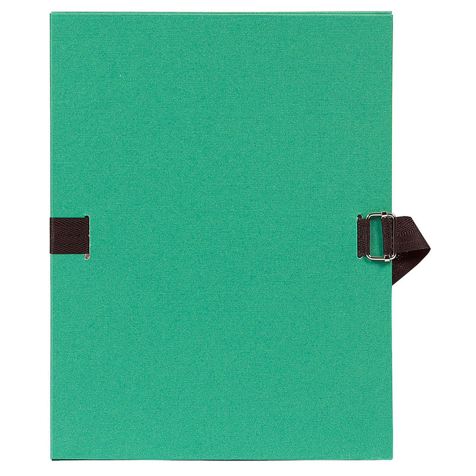 Exacompta Carpeta de papel con correa extensible verde claro