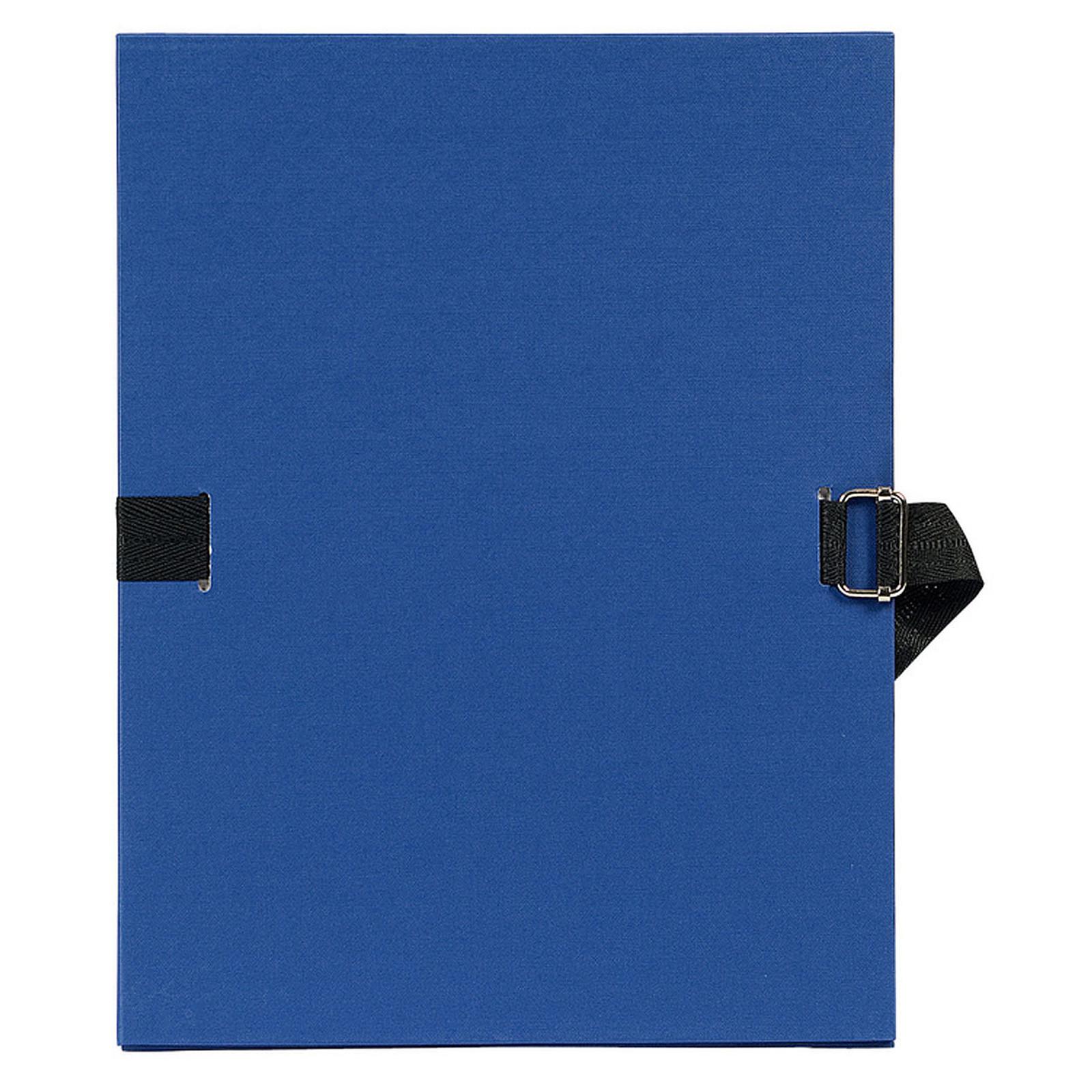 Exacompta Chemise à sangle papier toilé Bleu roy
