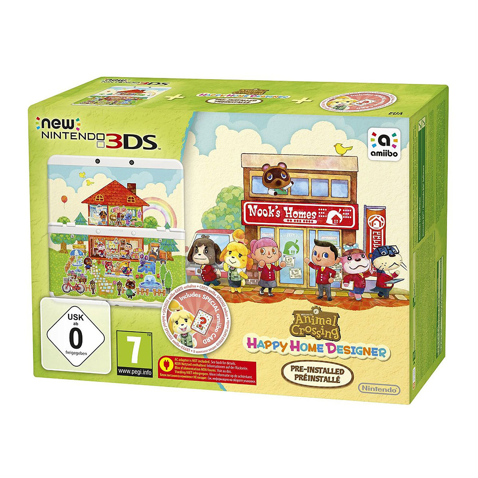 Nintendo New 3DS (blanche) + Animal Crossing : Happy Home Designer