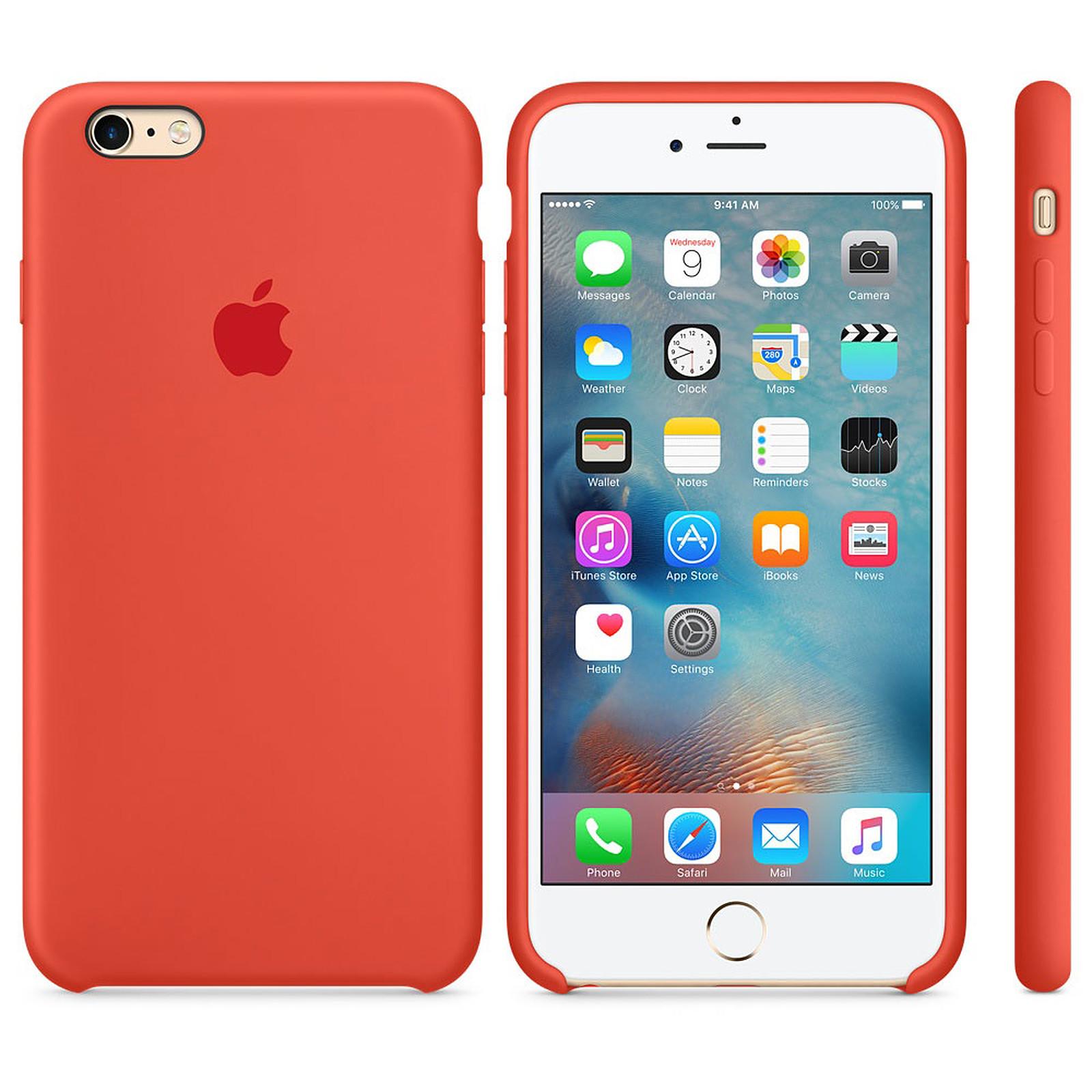 Apple Coque en silicone Orange Apple iPhone 6s Plus