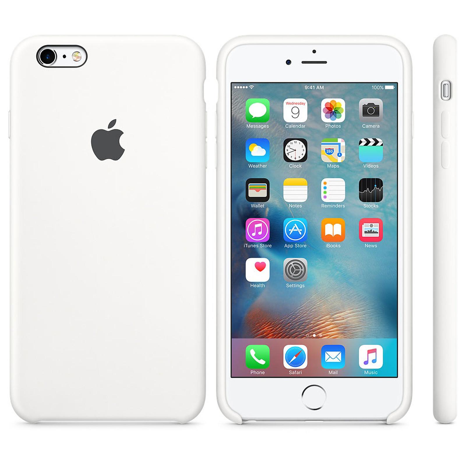 Apple Coque en silicone Blanc Apple iPhone 6s Plus