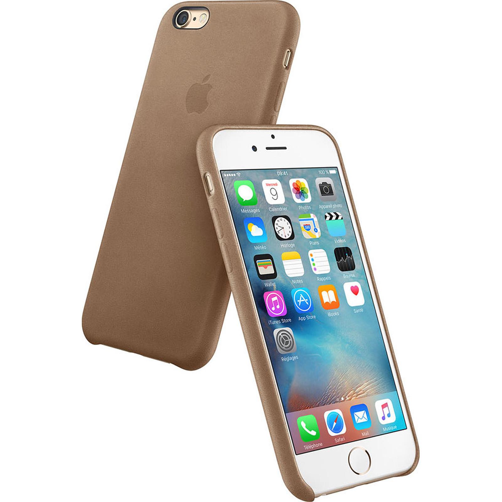Apple Coque en cuir Marron Apple iPhone 6s