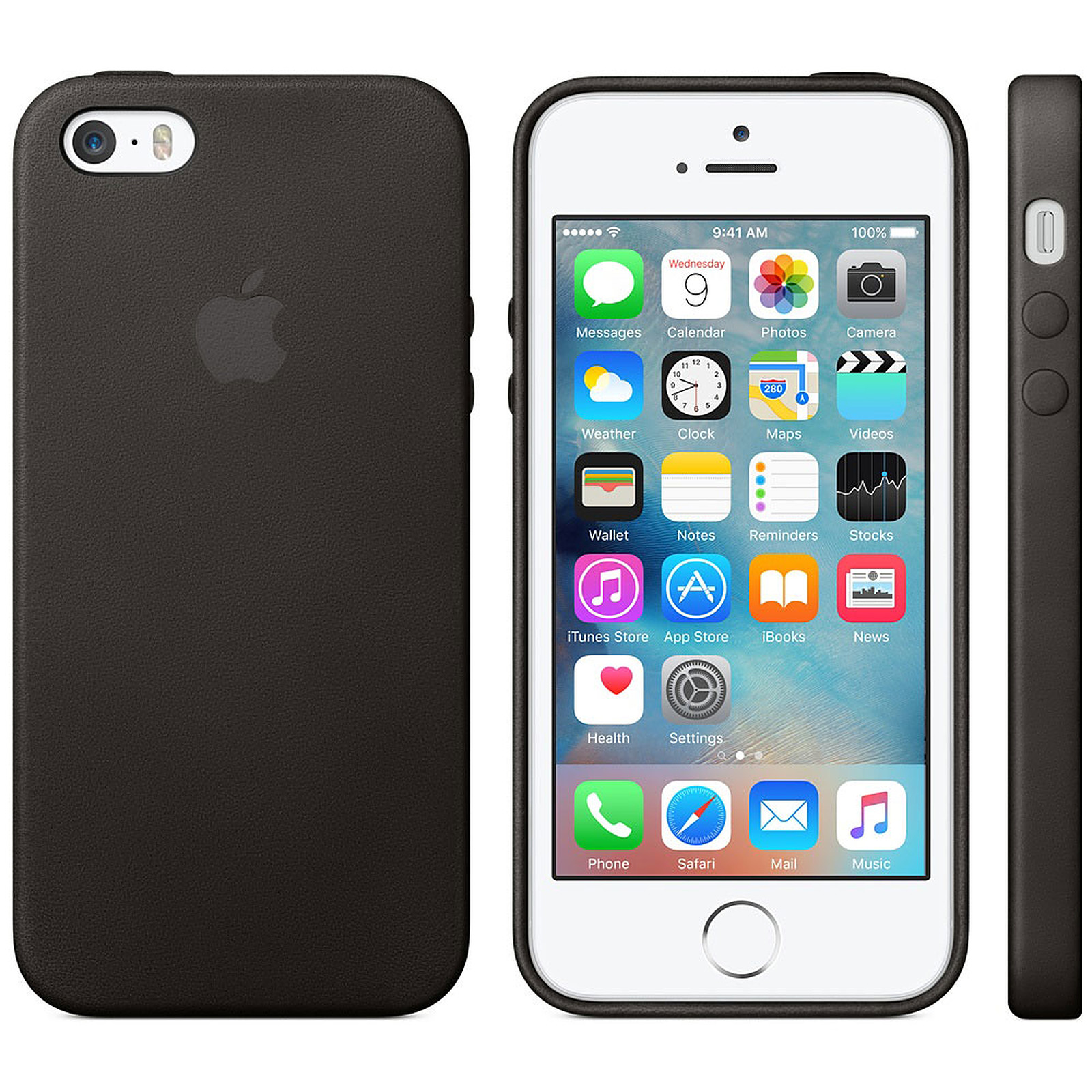 Apple Coque en cuir Noir iPhone 5s