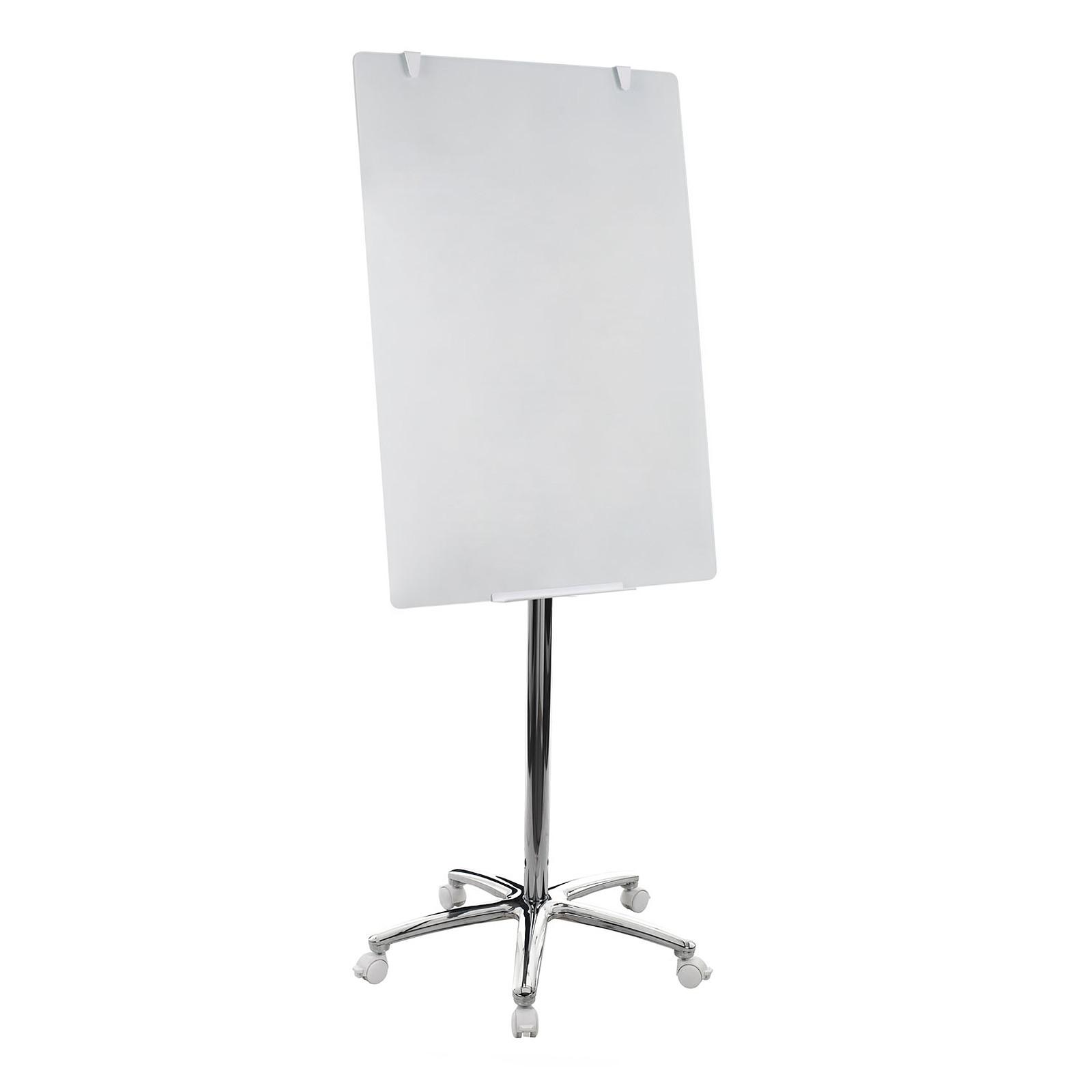 Bi-Office Chevalet de conférence en verre trempé 70 x 100 cm