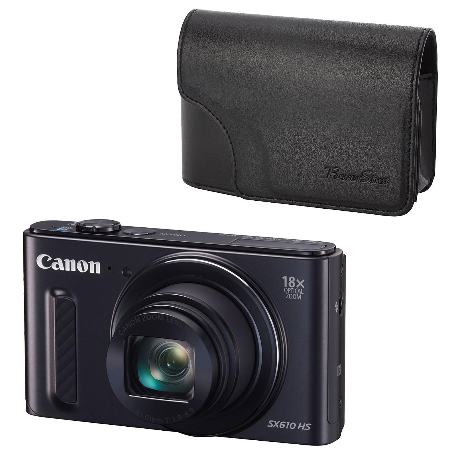 Canon PowerShot SX610 HS Noir + Canon DCC-1570
