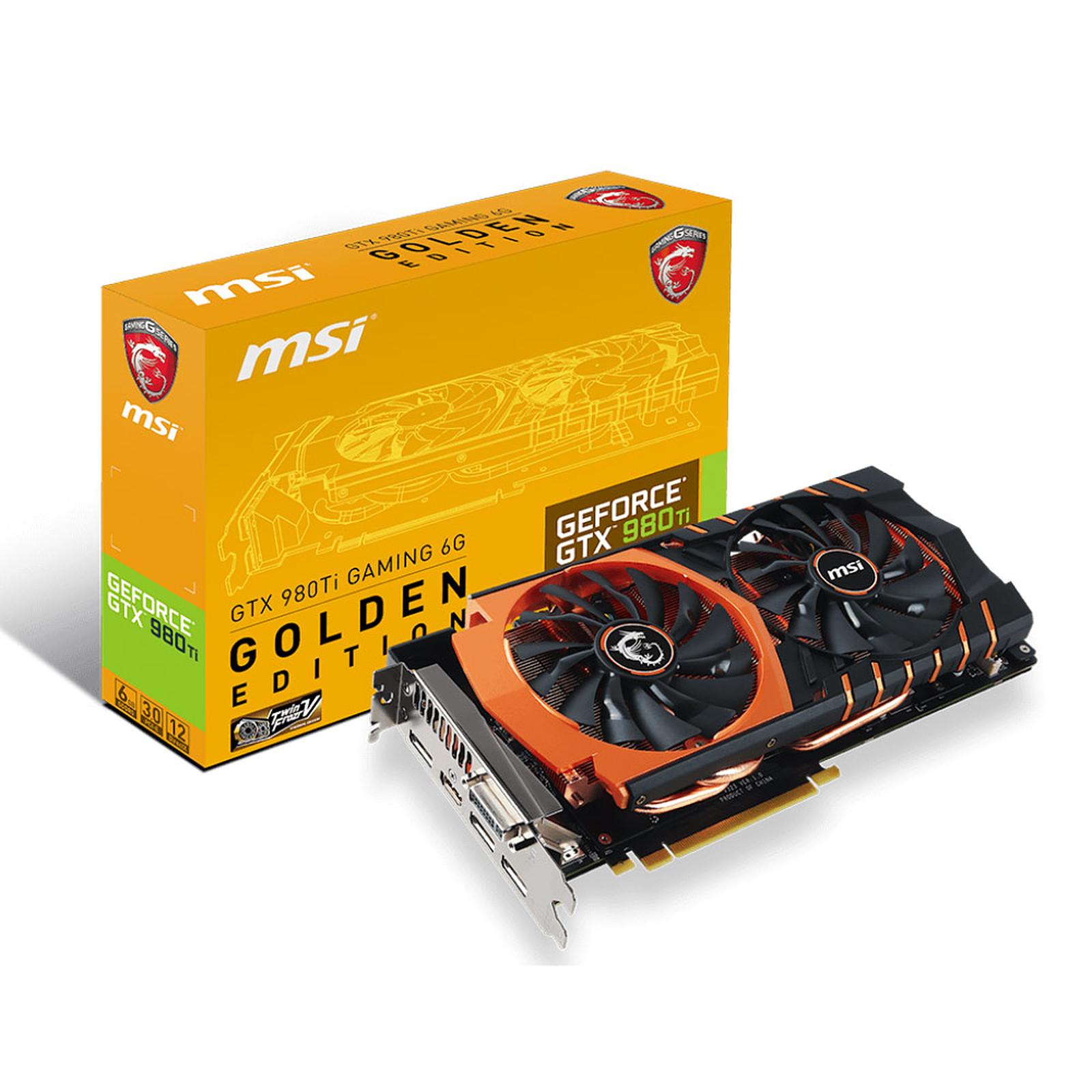 MSI GeForce GTX 980 TI GAMING 6 G GOLDEN EDITION