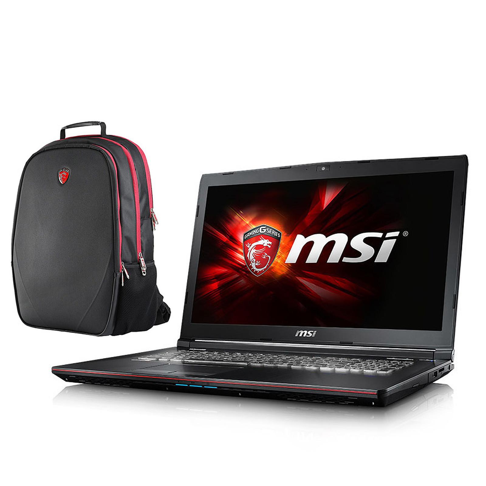 MSI GE72 6QC-025FR Apache + Sac à dos MSI Gaming OFFERT !
