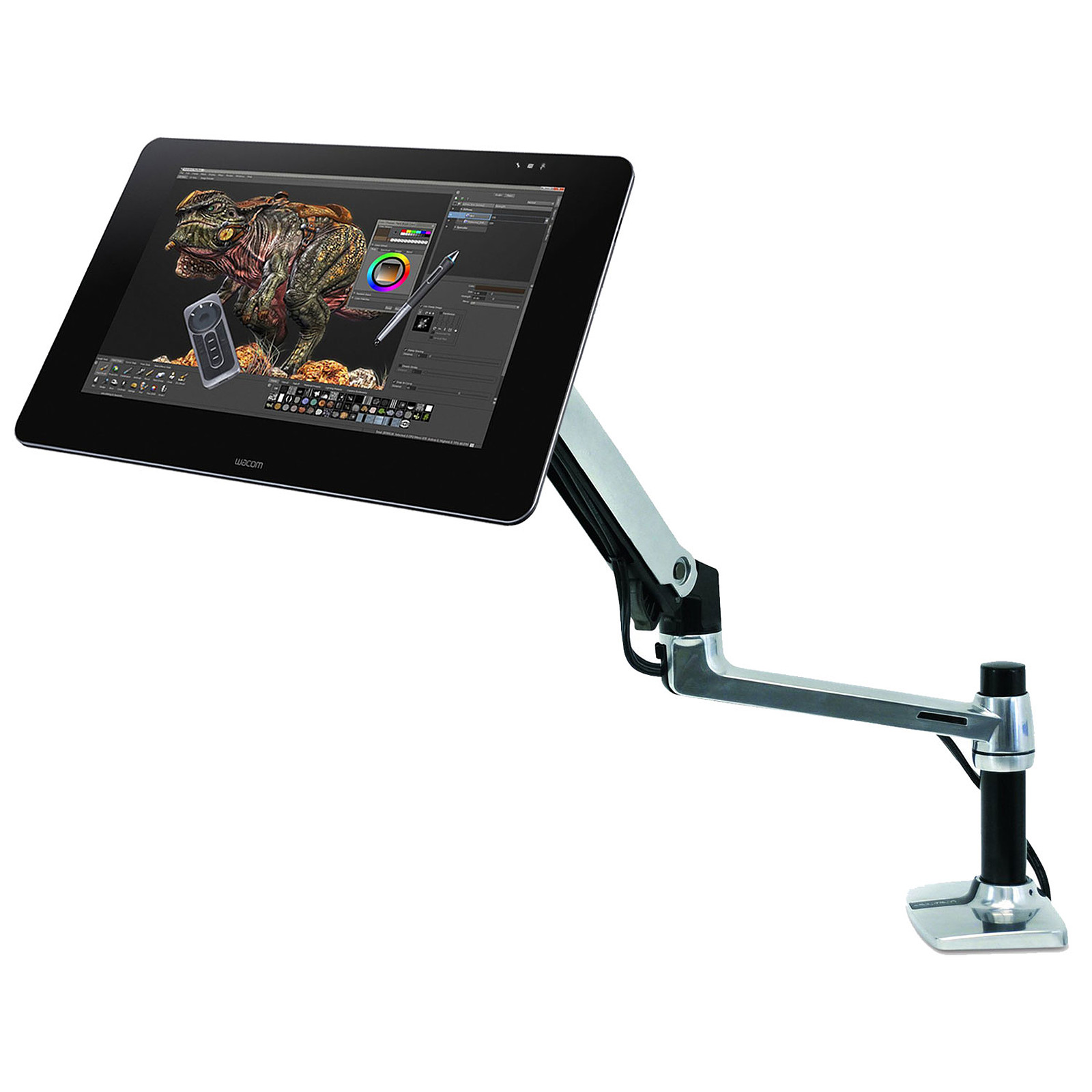 Wacom Cintiq 27QHD Creative Pen Display + Ergotron LX