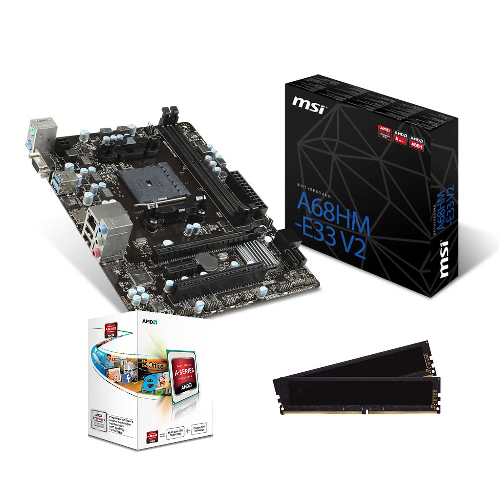 Kit Upgrade PC AMD A4 MSI A68HM-E33 V2 8 Go