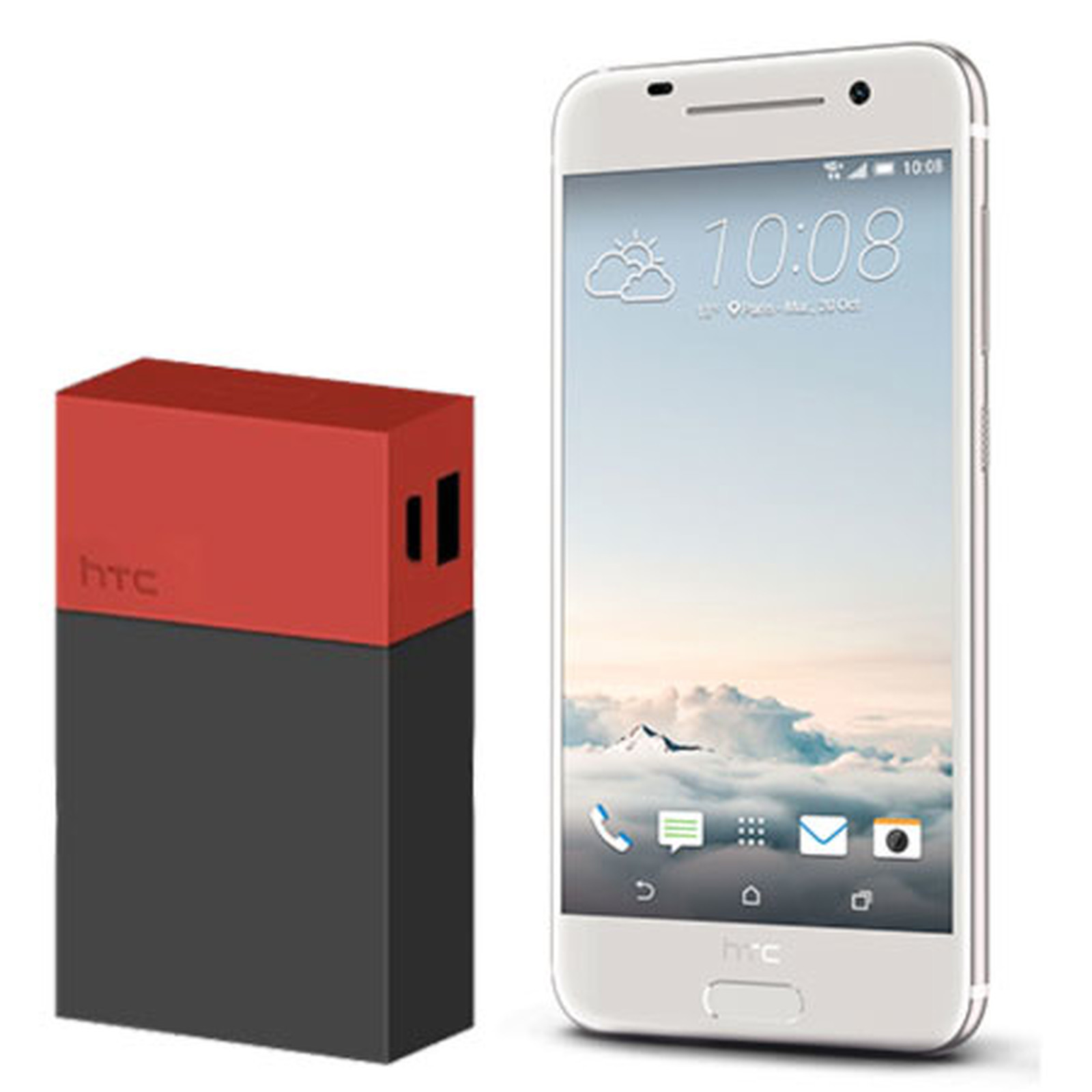 HTC One A9 Argent + Powerbank 9000 mAh
