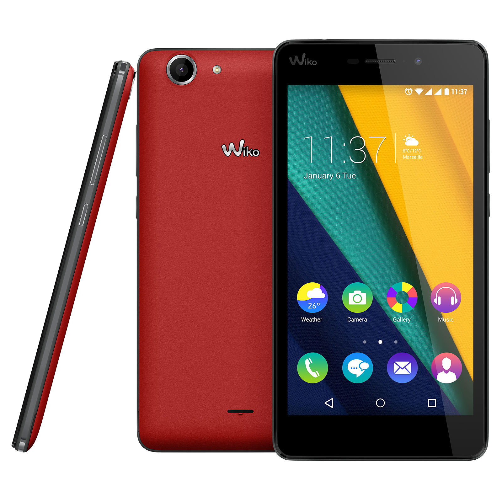 Wiko Pulp Fab 4G Rouge